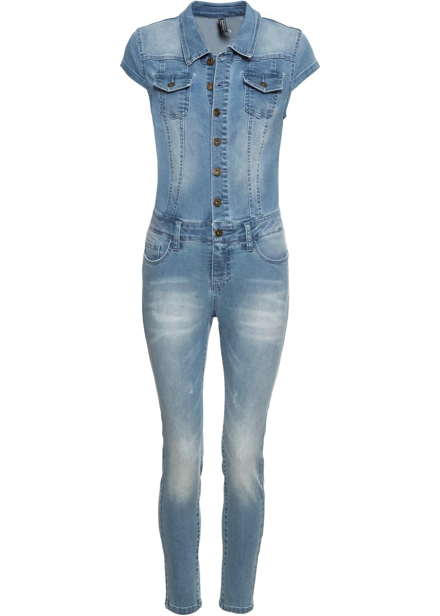 Jeans-Jumpsuit mit Knöpfen