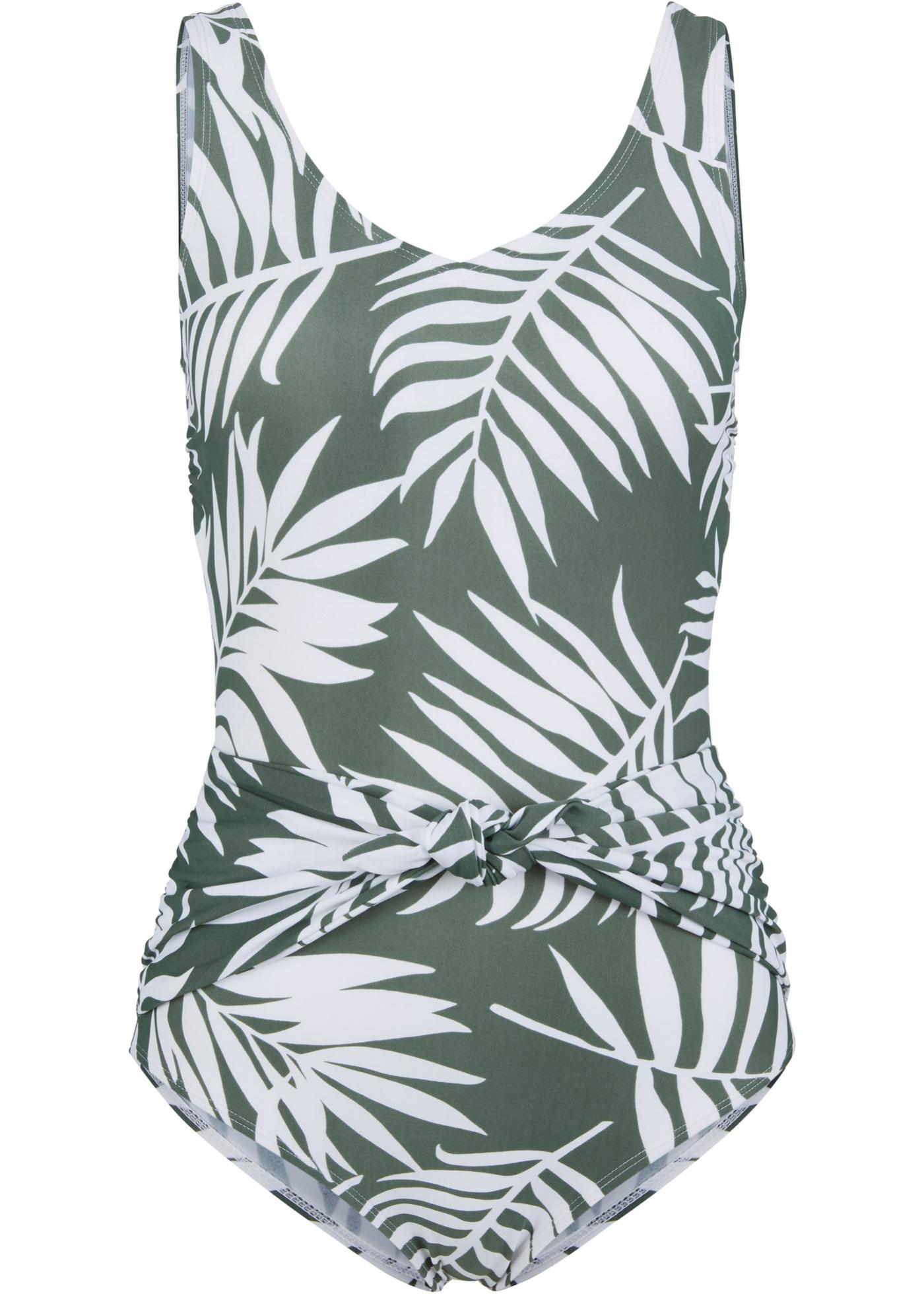 Badeanzug in grün für Damen von bonprix