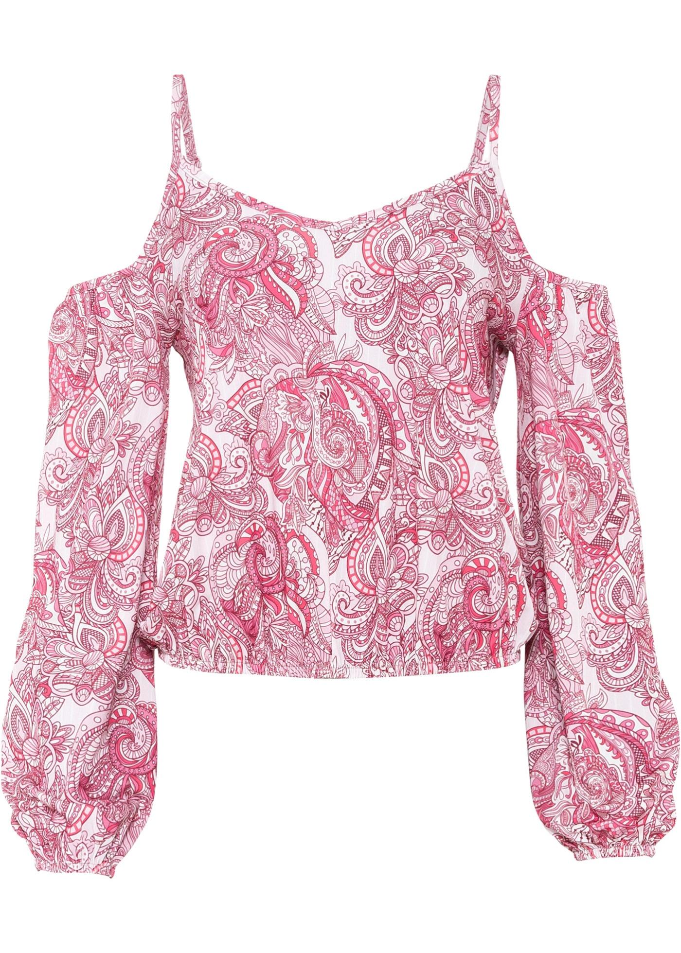 Cold-Shoulder-Shirt 3/4 Arm  in weiß für Damen von bonprix