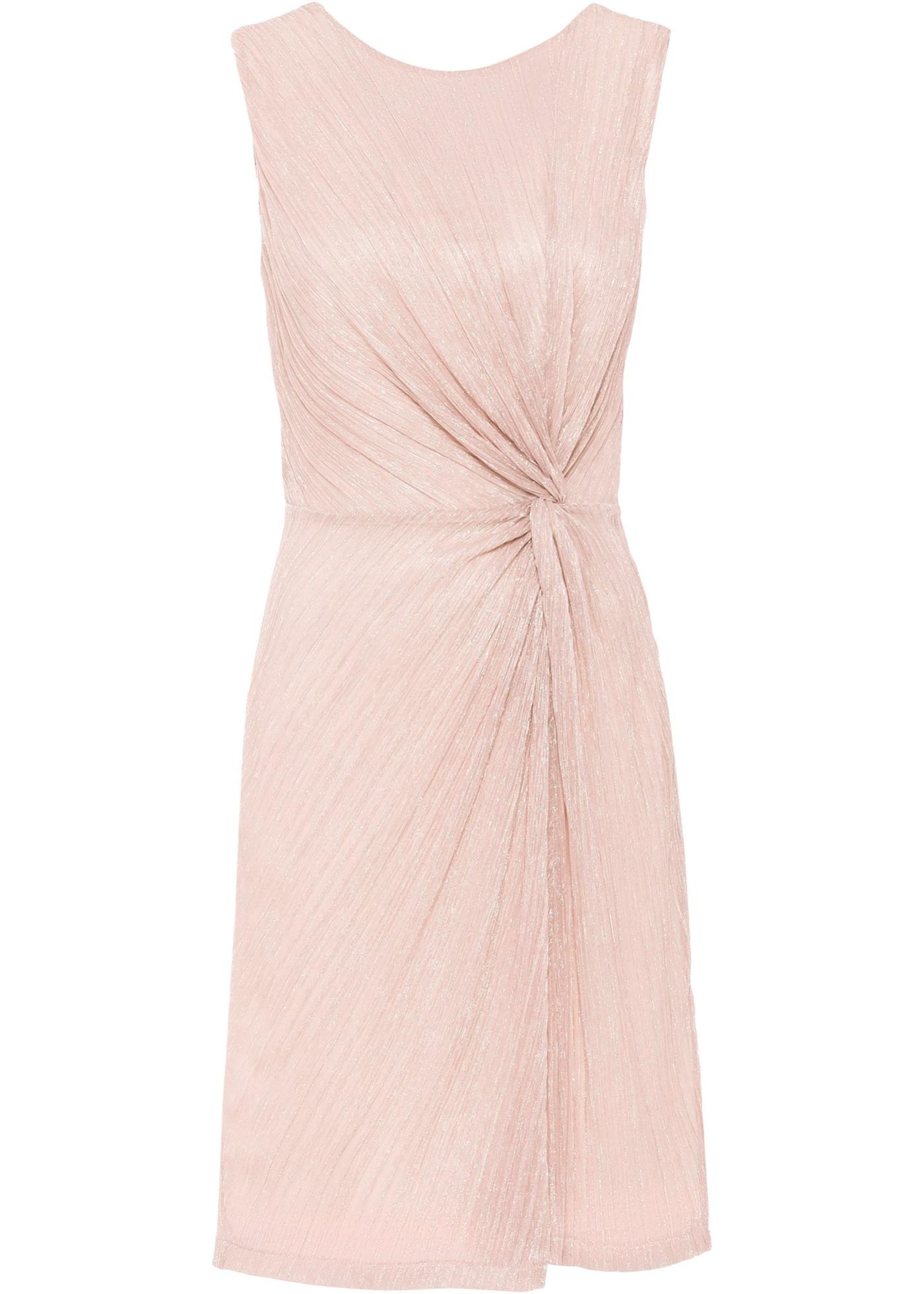 Plissée-Kleid mit Glitzereffekt ohne Ärmel  in rosa für Damen von bonprix