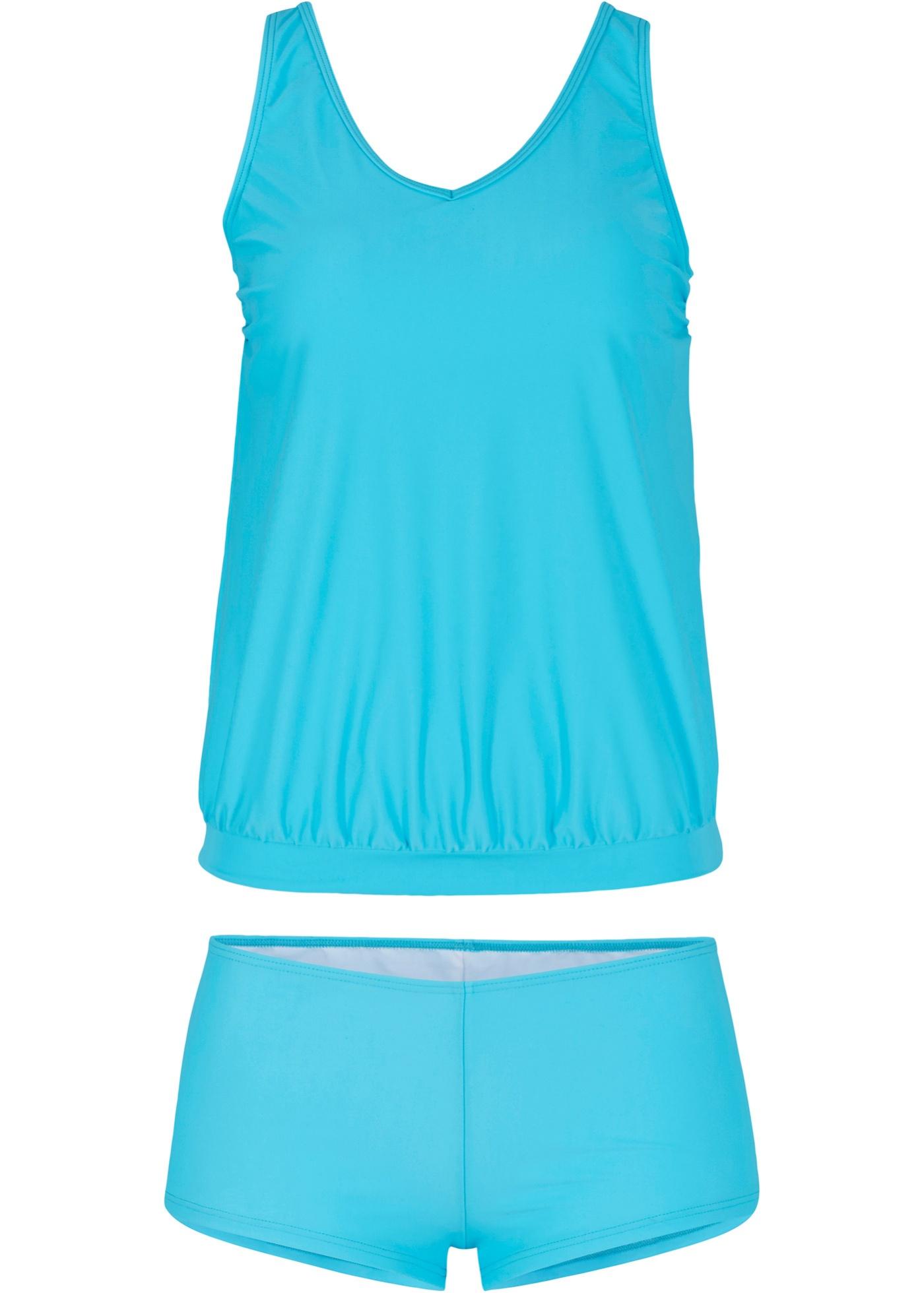 Tankini schnelltrocknend (2-tlg. Set) in blau für Damen von bonprix
