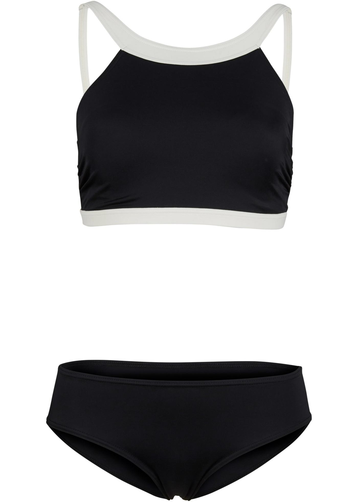 Bustier Bikini nachhaltig (2-tlg. Set) in schwarz für Damen von bonprix