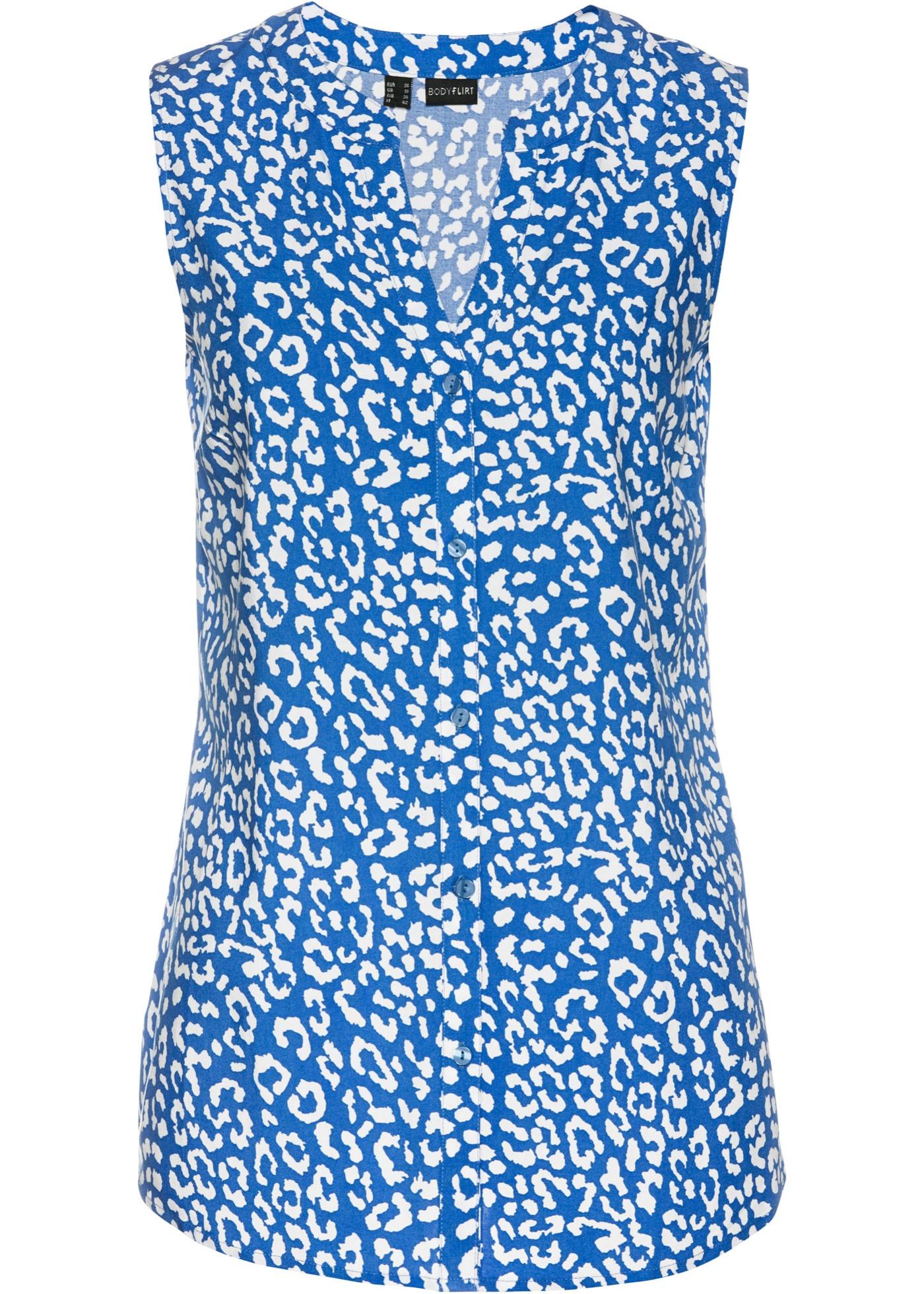 Bluse aus Viskose ohne Ärmel  in blau für Damen von bonprix