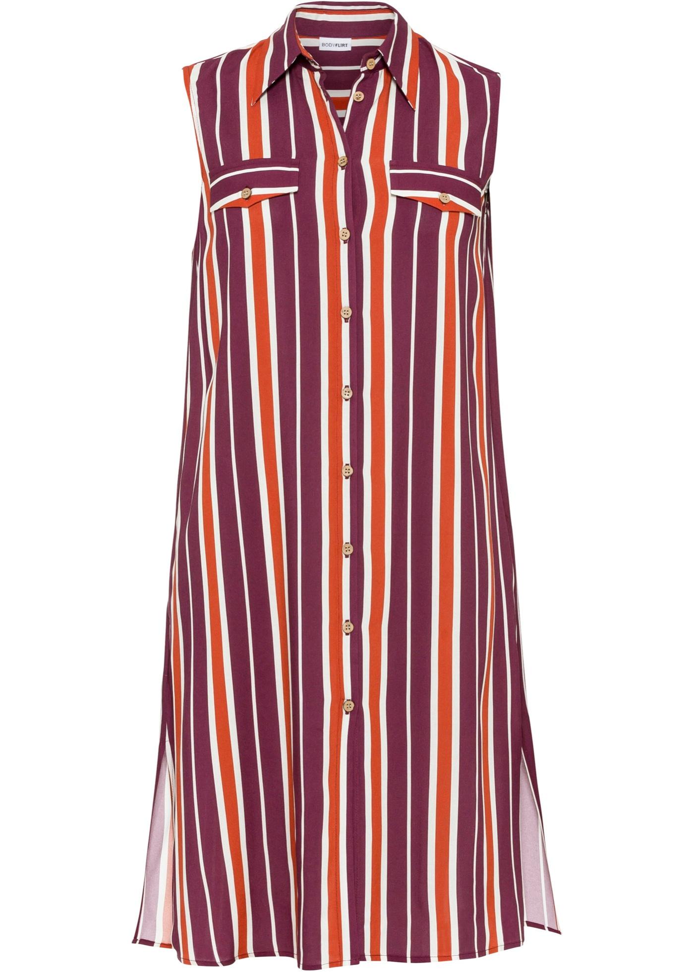Blusenkleid ohne Ärmel  in lila für Damen von bonprix