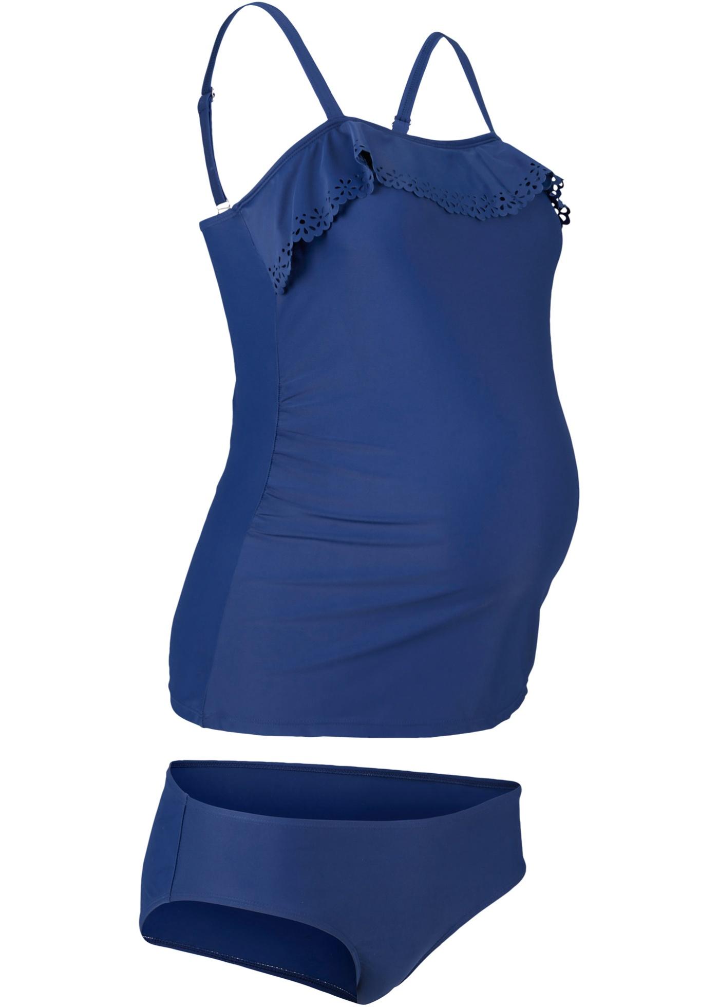 Umstandstankini (2-tlg. Set) in blau für Damen von bonprix