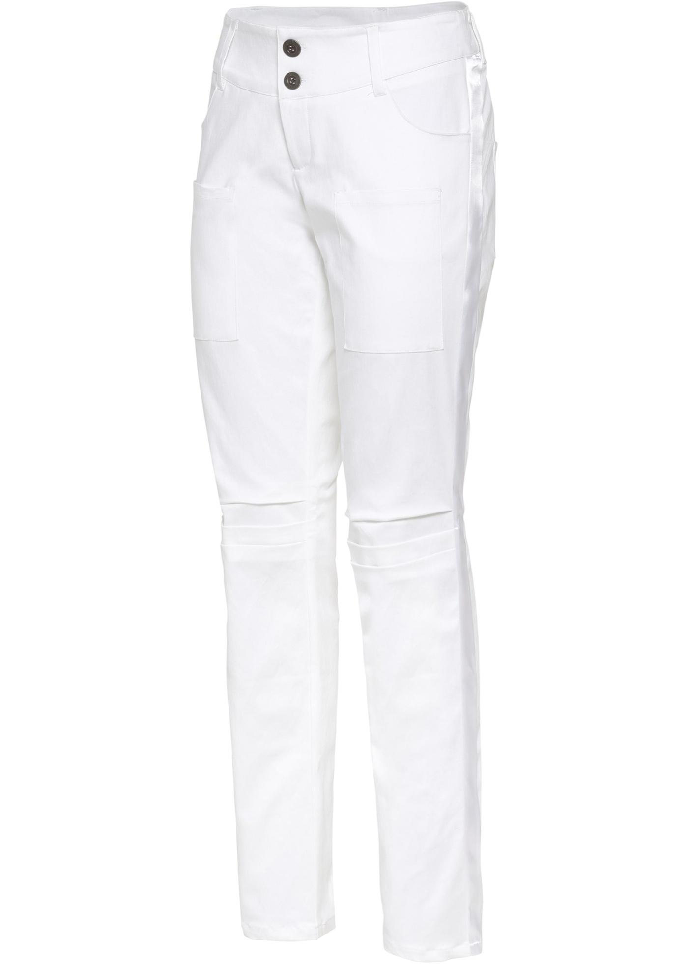 Boyfriend-Hose in weiß für Damen von bonprix