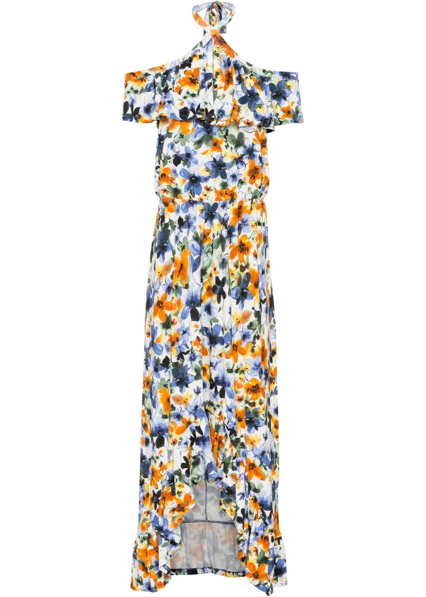 Neckholder-Kleid ohne Ärmel  in weiß für Damen von bonprix