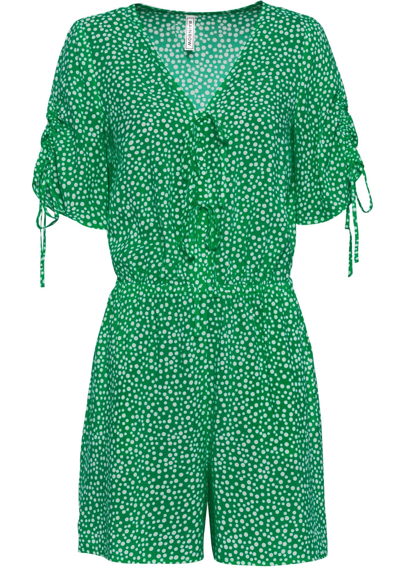 Jumpsuit mit Taschen kurzer Arm  in grün für Damen von bonprix