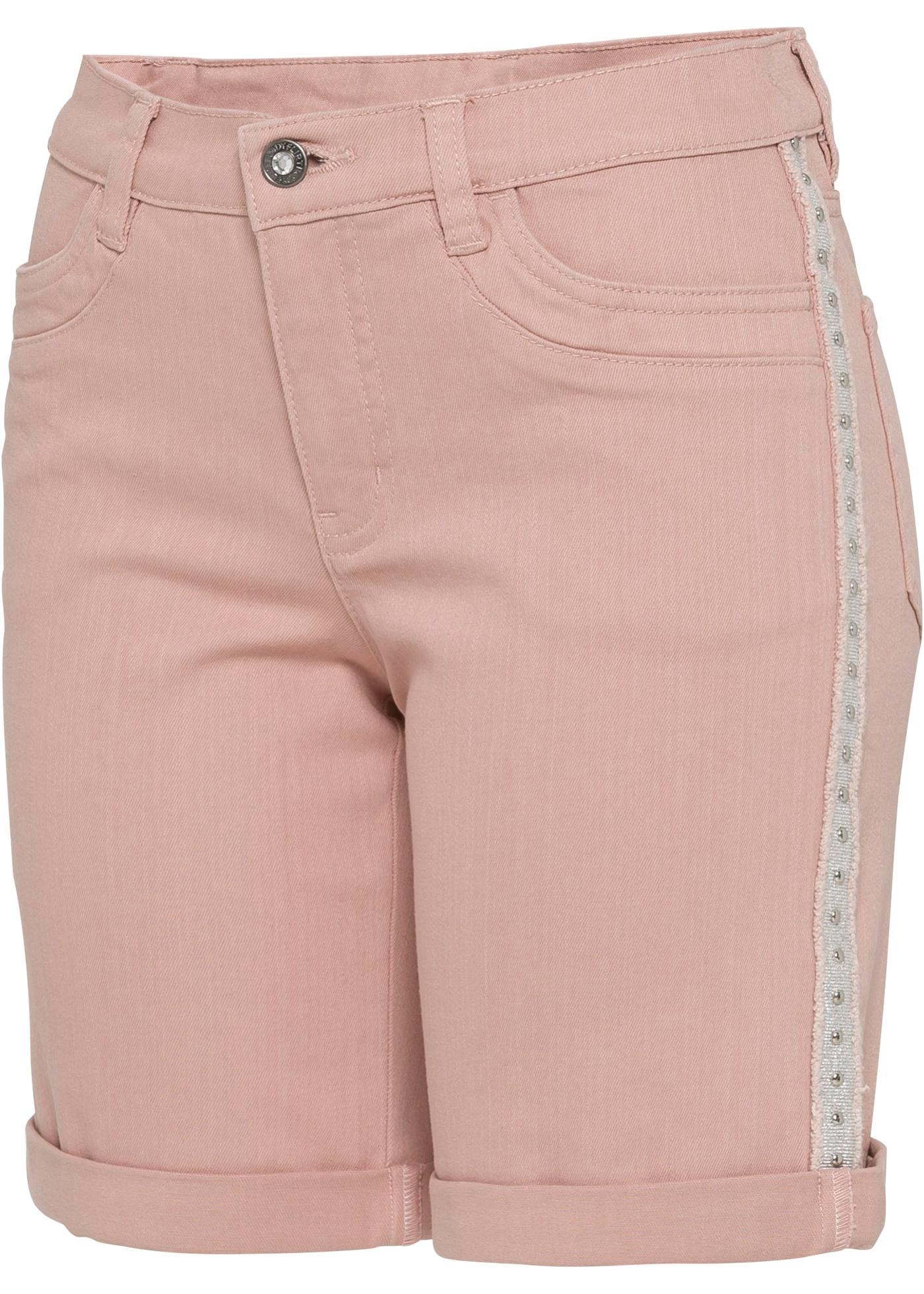 Hosen - Jeans Shorts, verziert › bonprix › rosa  - Onlineshop Bonprix