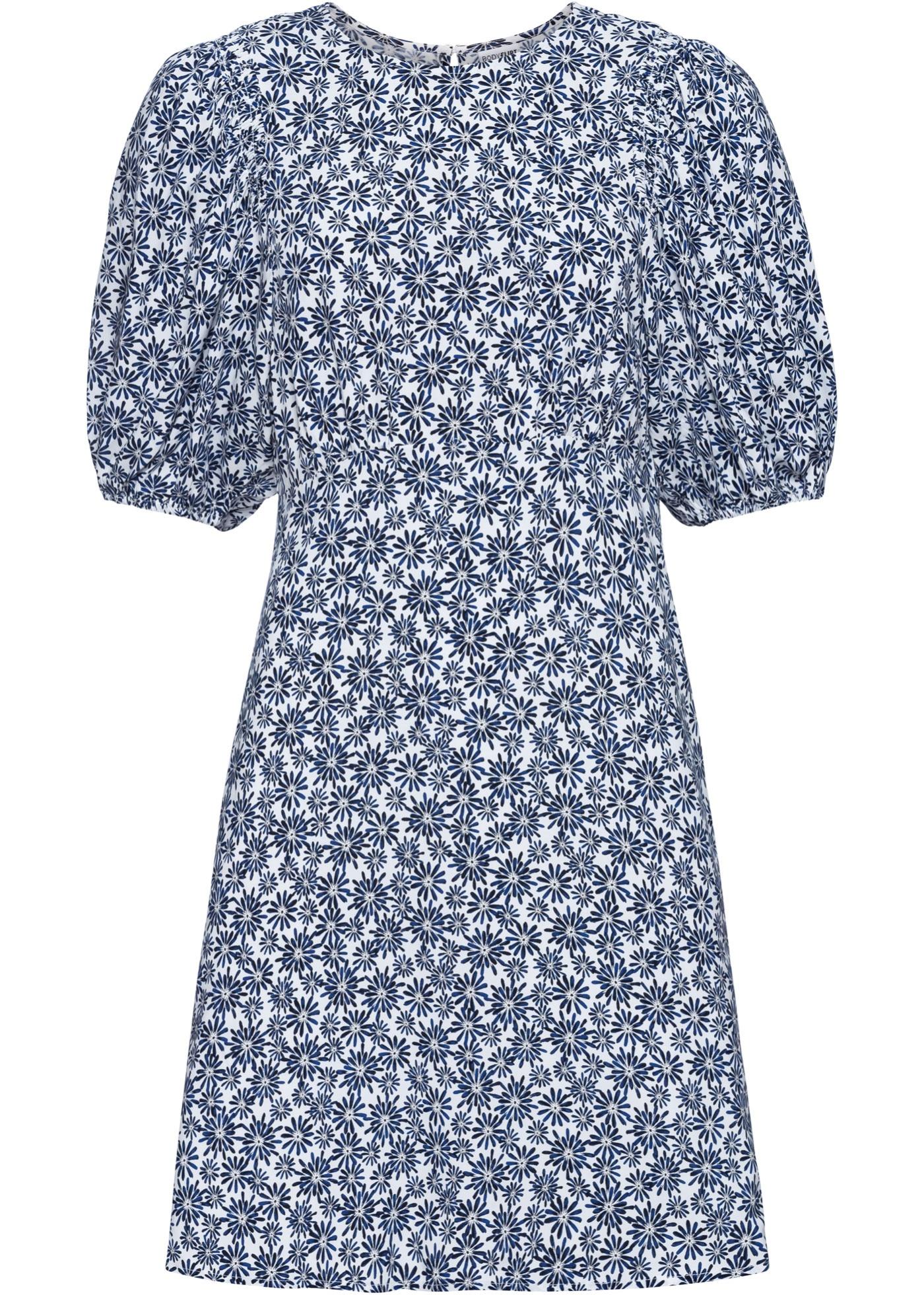 Kleid mit Ballonärmel halber Arm  in blau für Damen von bonprix