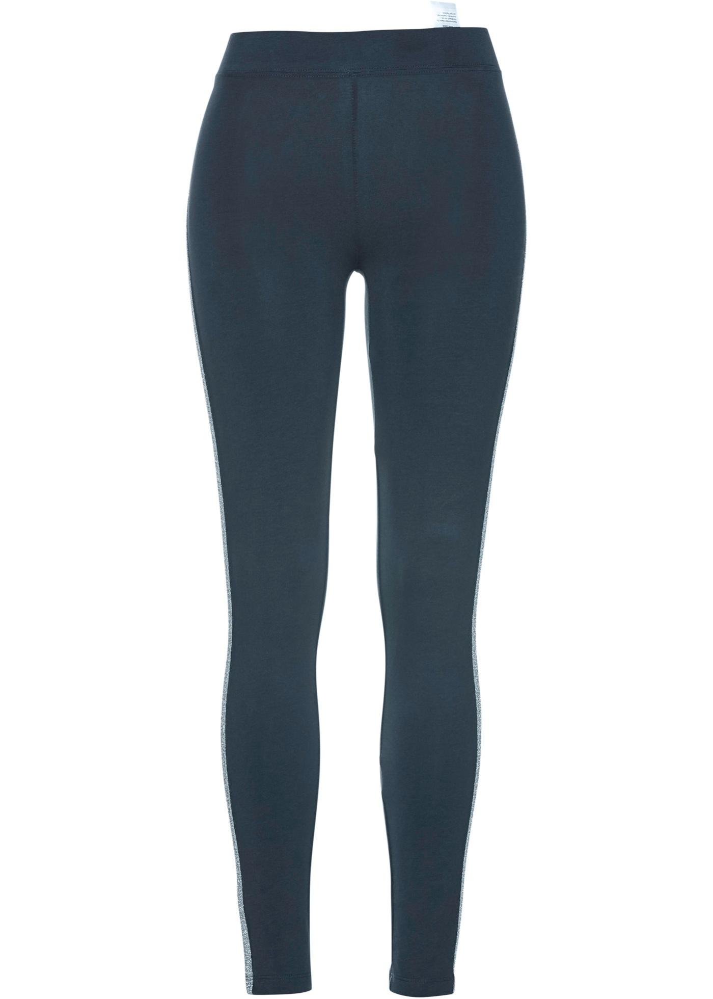 Hosen - Leggings mit Glitzerstreifen › bonprix › blau  - Onlineshop Bonprix