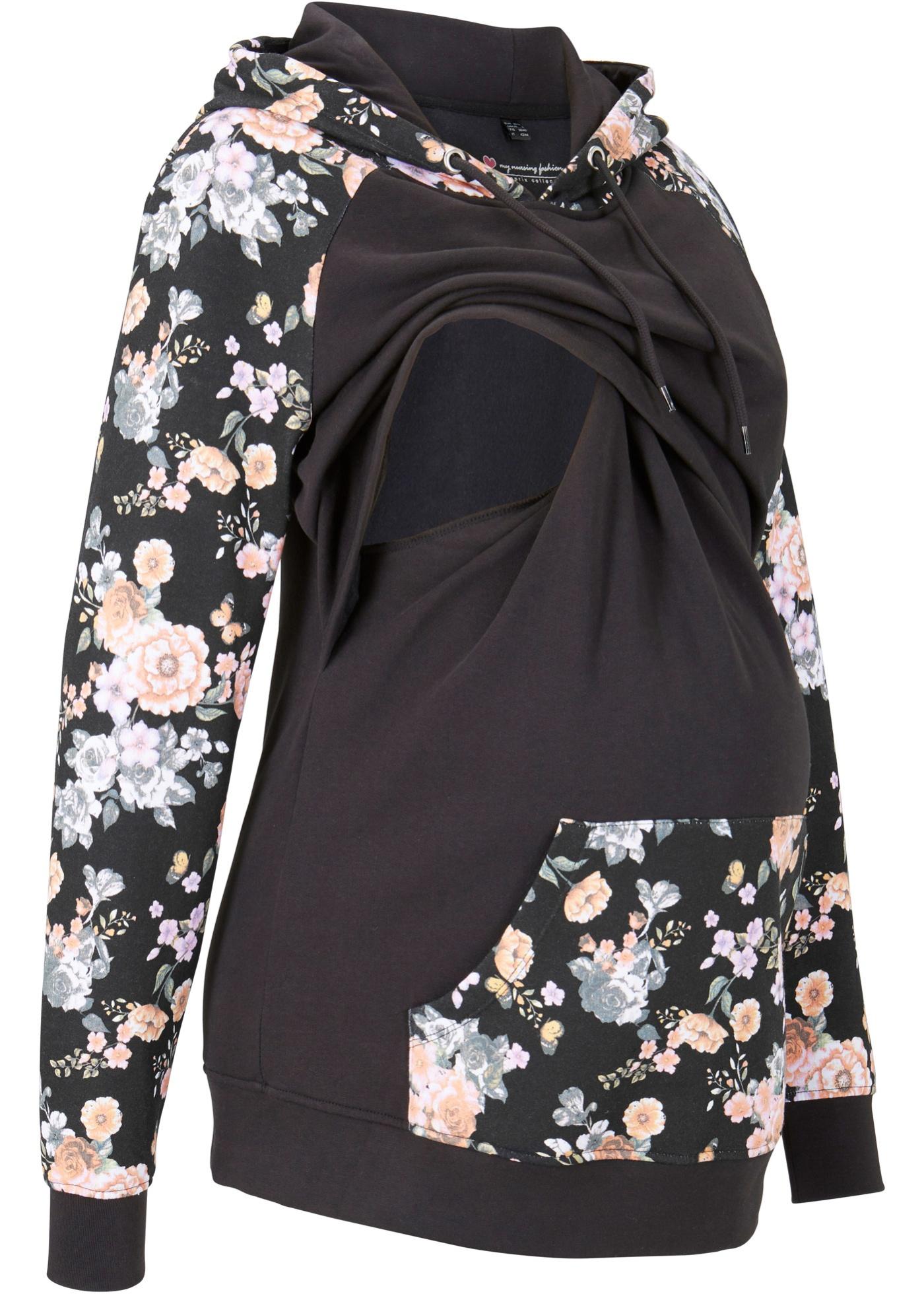 Schwangerschaftsmode - Umstands Sweatshirt Still Sweatshirt › bonprix › schwarz  - Onlineshop Bonprix