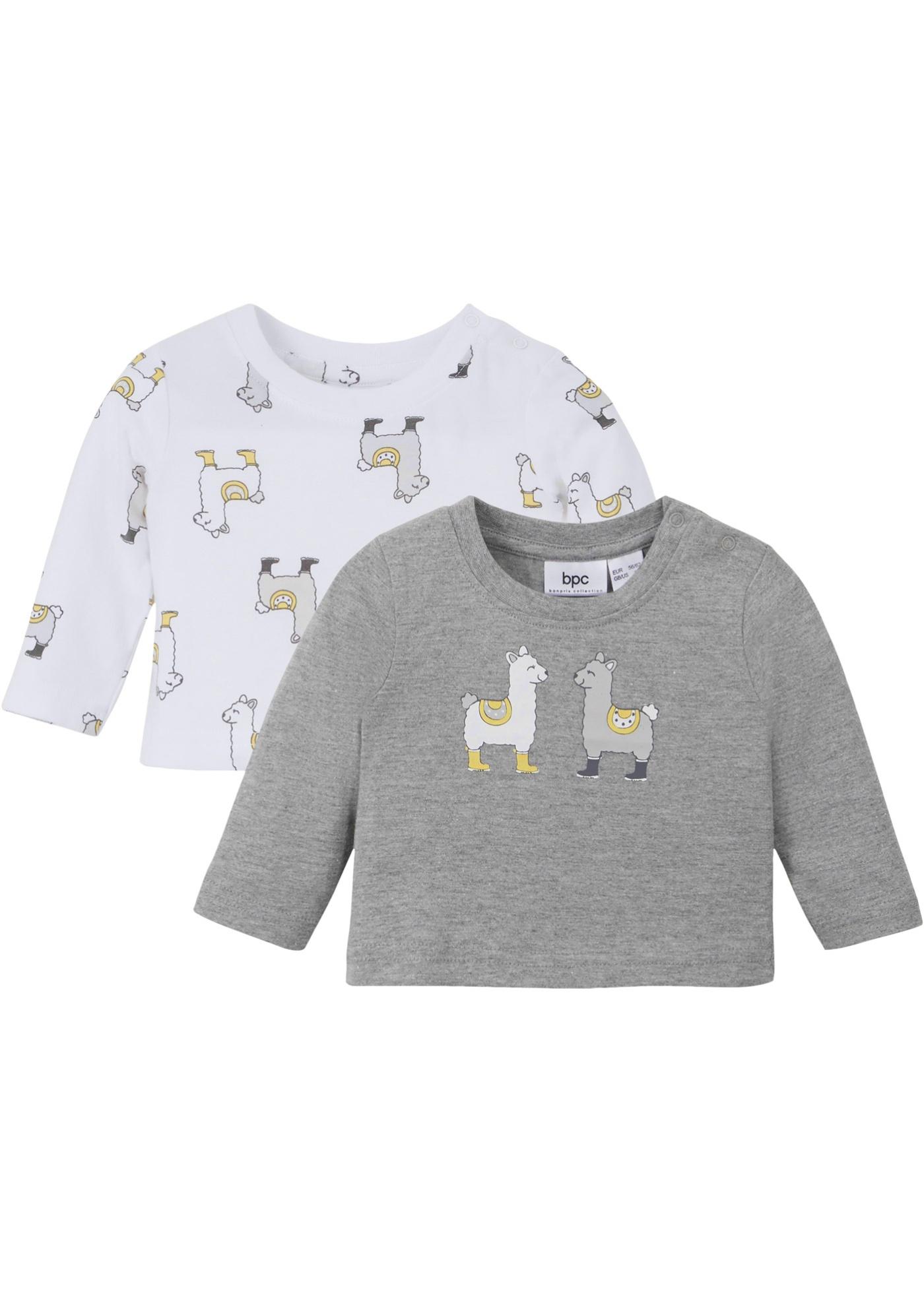Baby Langarmshirt (2er-Pack) Bio-Baumwolle