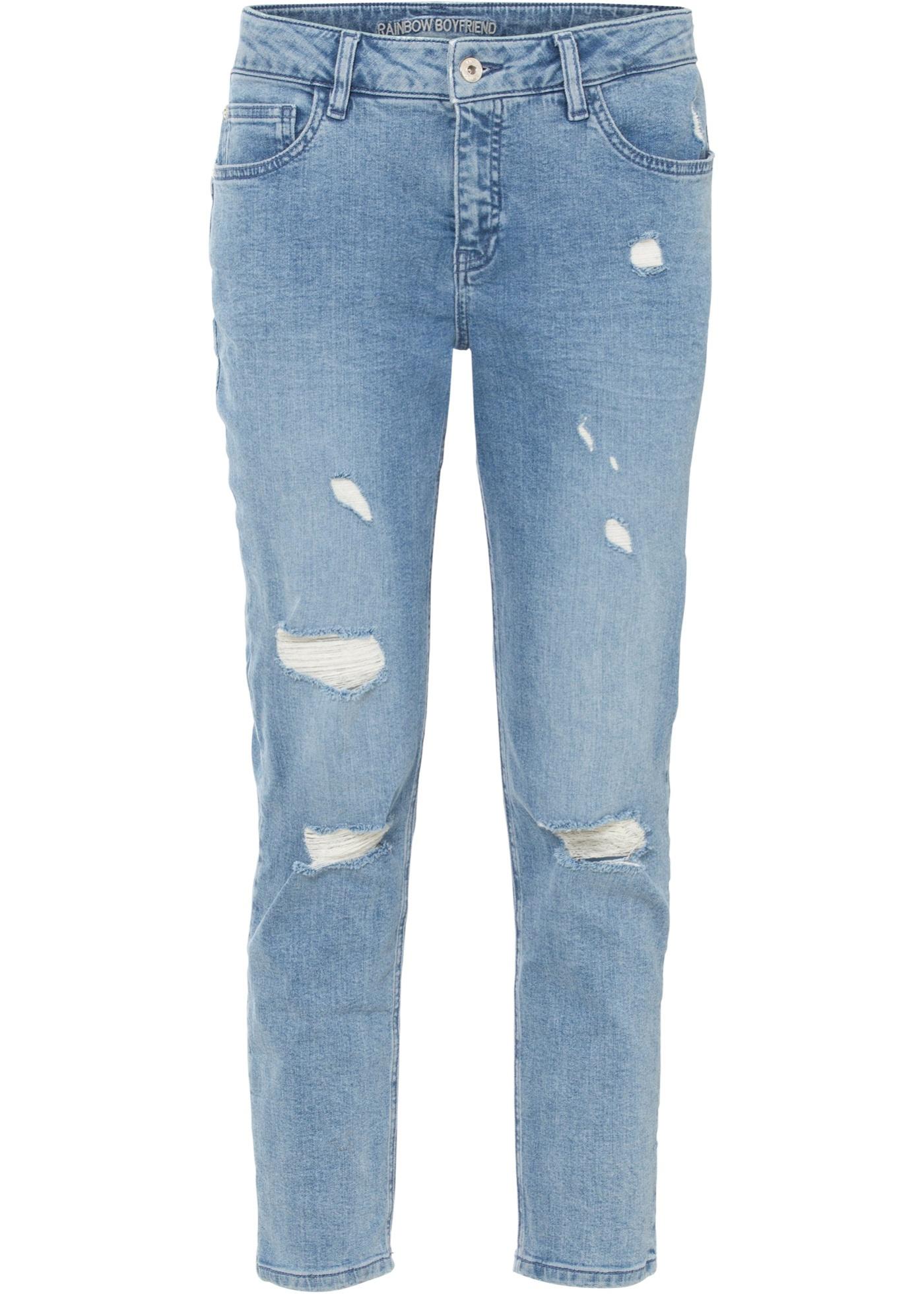 Boyfriend-Jeans aus Bio-Baumwolle verkürzt