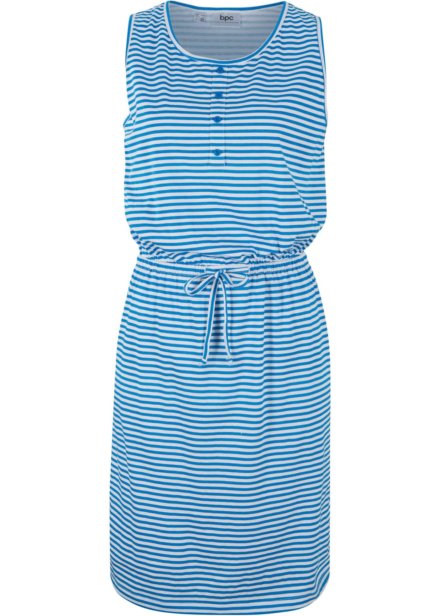 Jerseykleid mit Knopfleiste und Bindeband