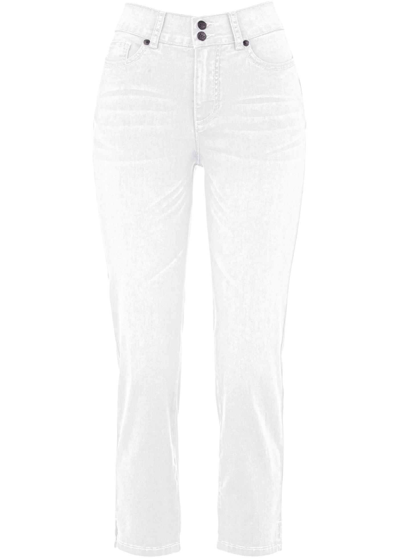 7/8 Push-up Jeans mit Bequembund, Straight