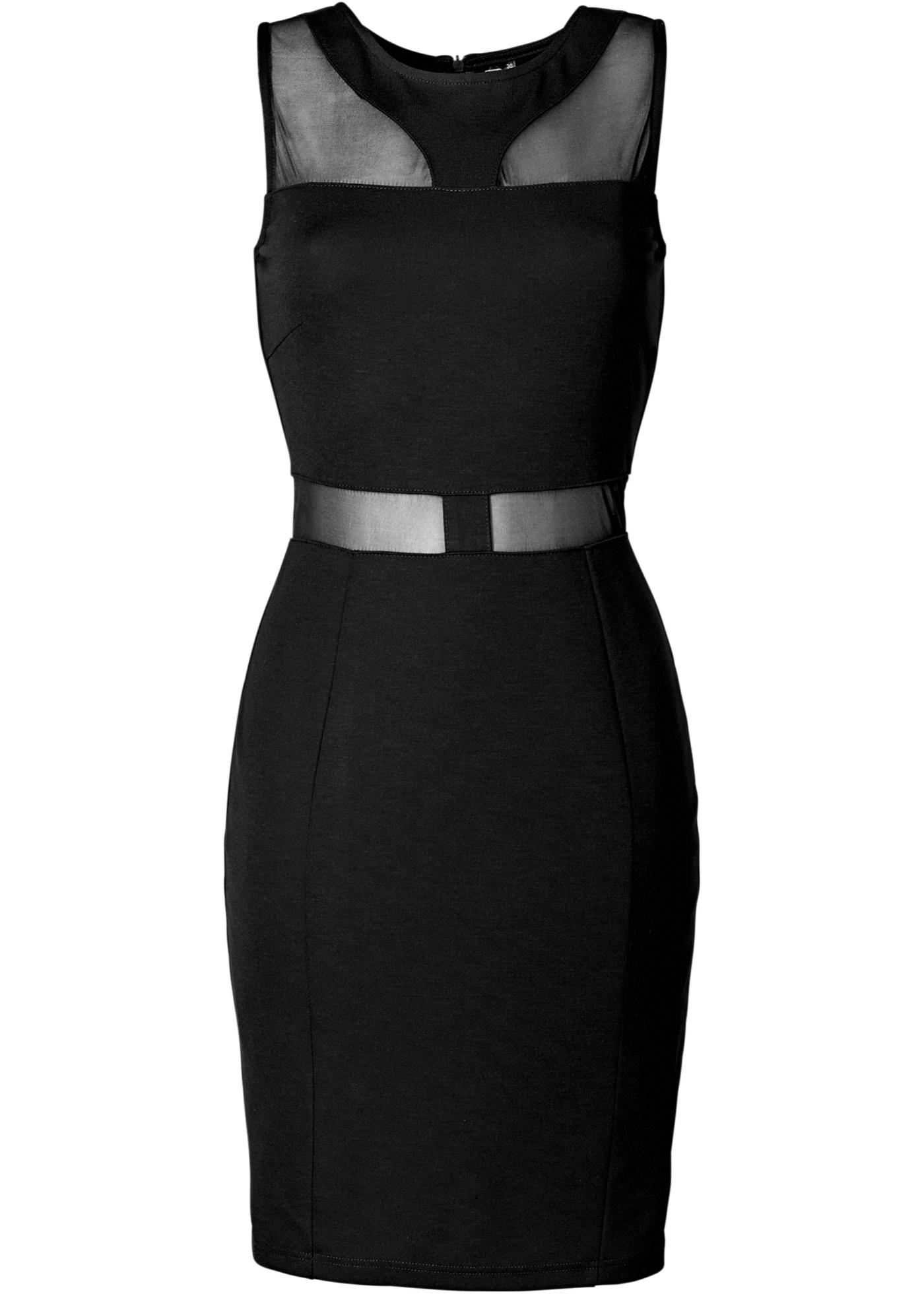 Kleid ohne Ärmel  in schwarz (Rundhals) für Damen von bonprix