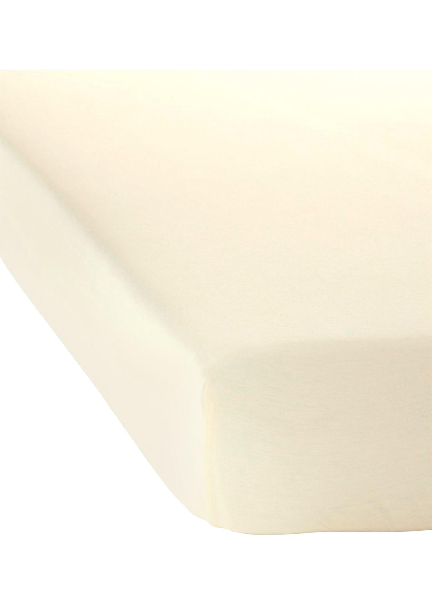 Jersey Spannbettlaken in beige von bonprix
