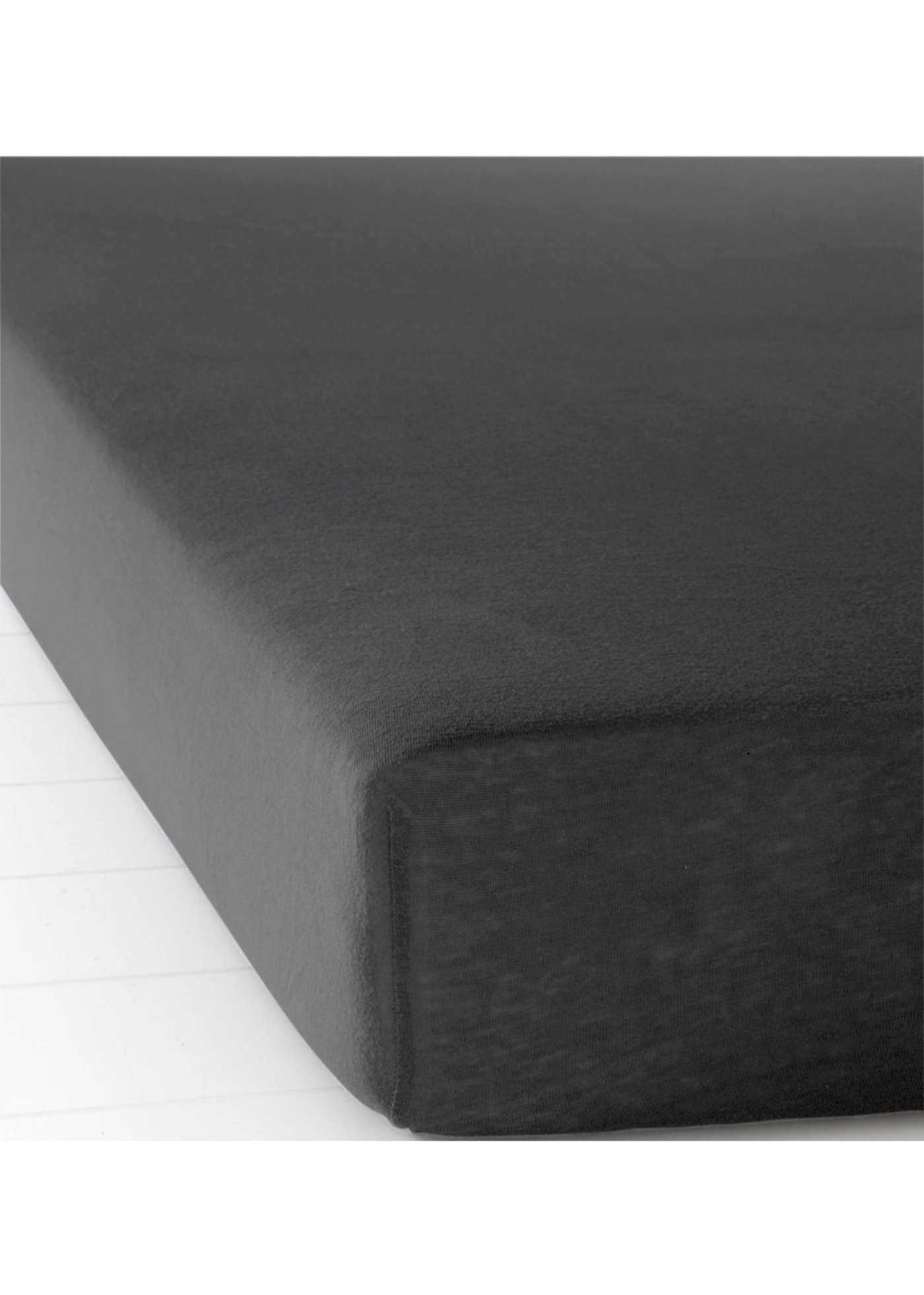 Jersey Spannbettlaken in schwarz von bonprix