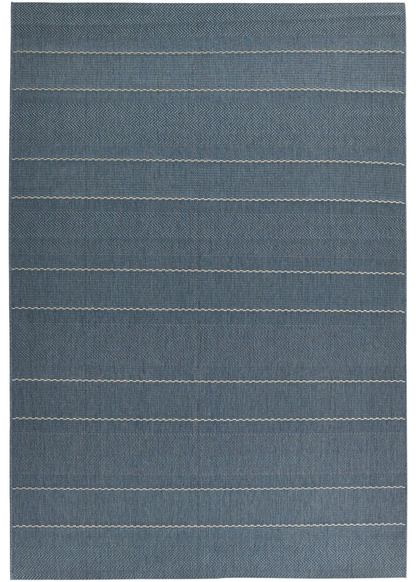 In- und Outdoor Teppich mit dezenten Streifen