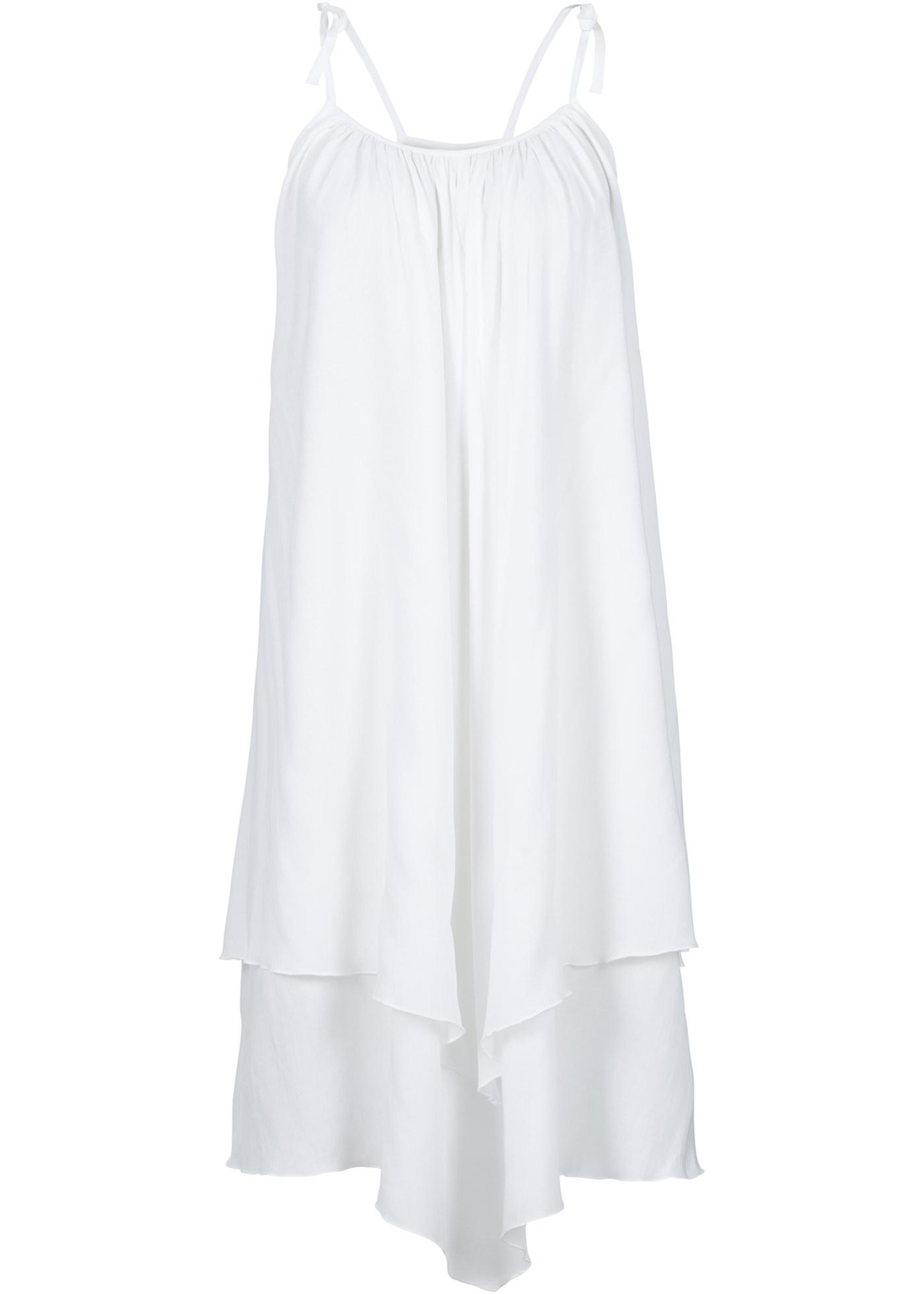 Kleid ohne Ärmel  in weiß (Rundhals) für Damen von bonprix