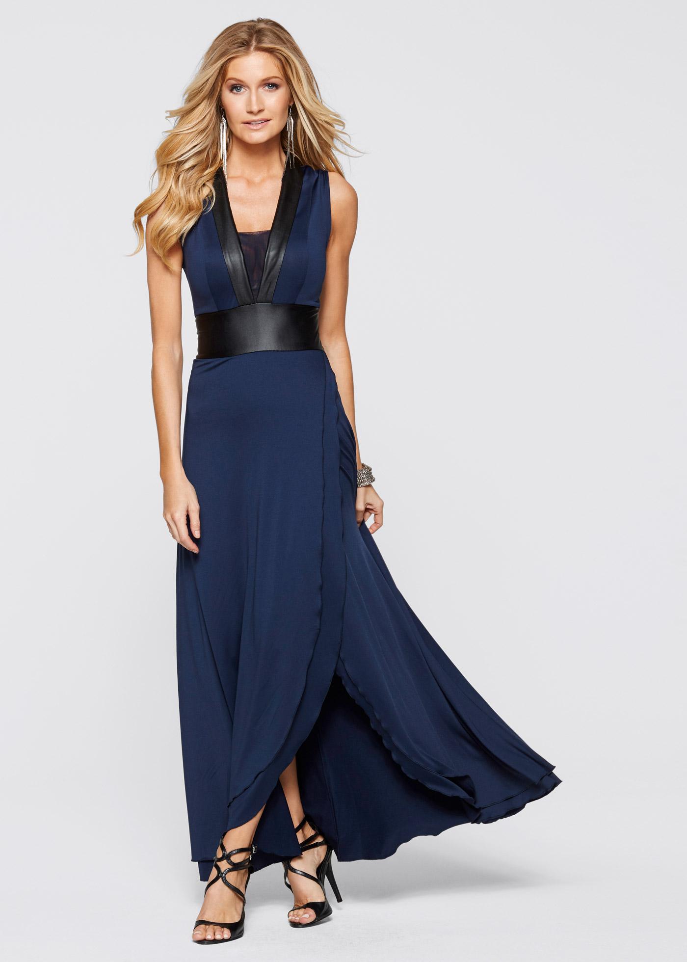Kleid, BODYFLIRT boutique, dunkelblau/schwarz