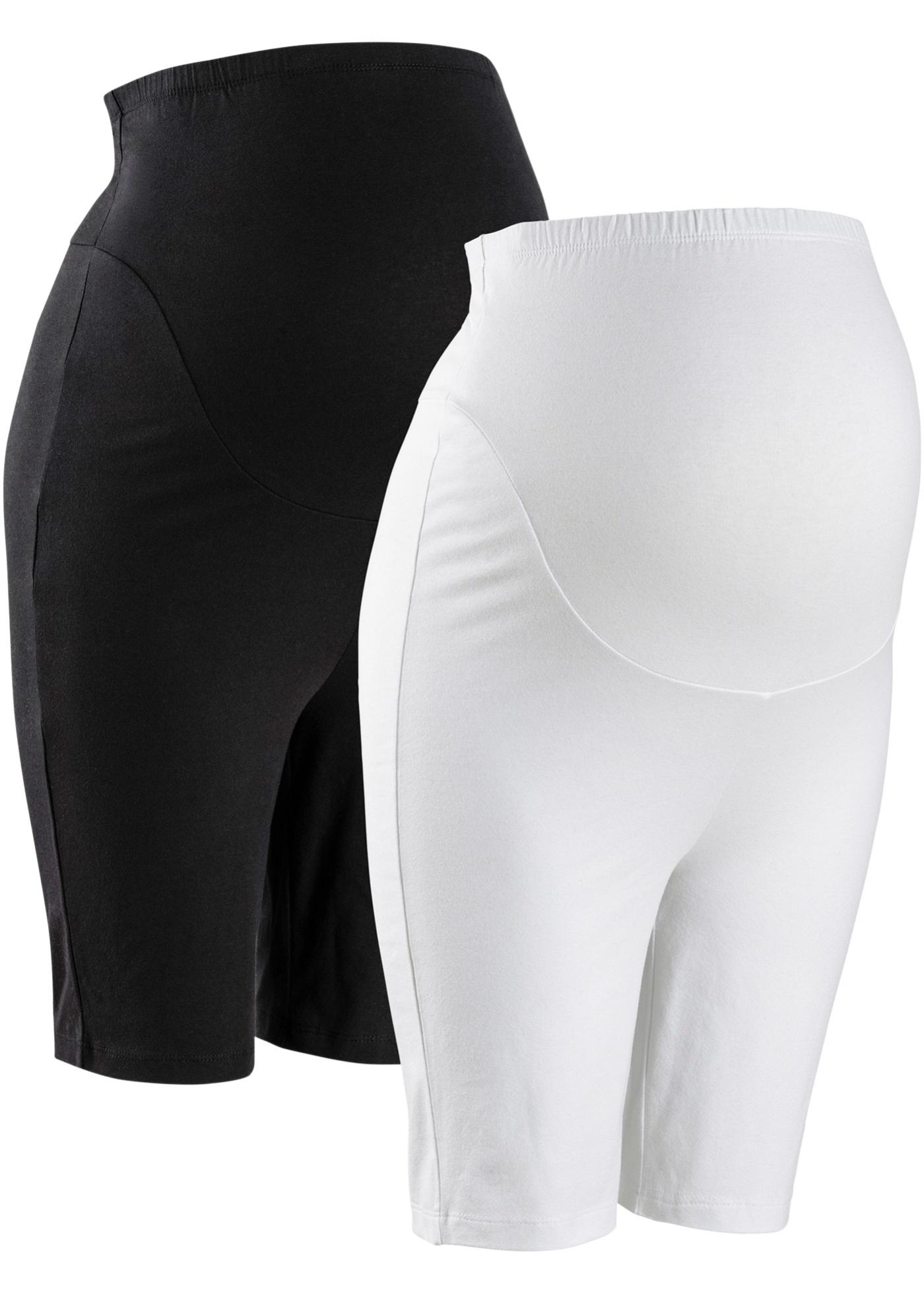 Umstands-Radlerhose (2er Pack) in schwarz für Damen von bonprix