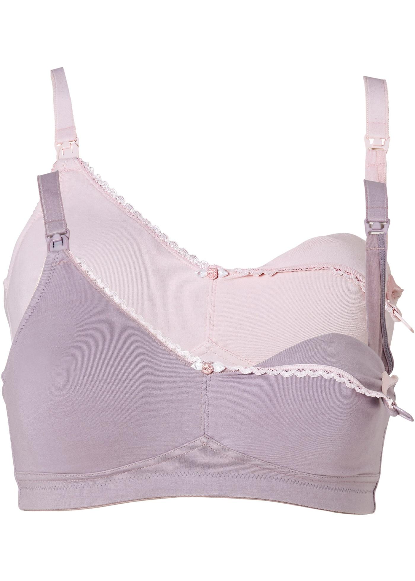 Schwangerschaftsmode - Still BH (2er Pack) aus Bio Baumwolle › bonprix › rosa  - Onlineshop Bonprix