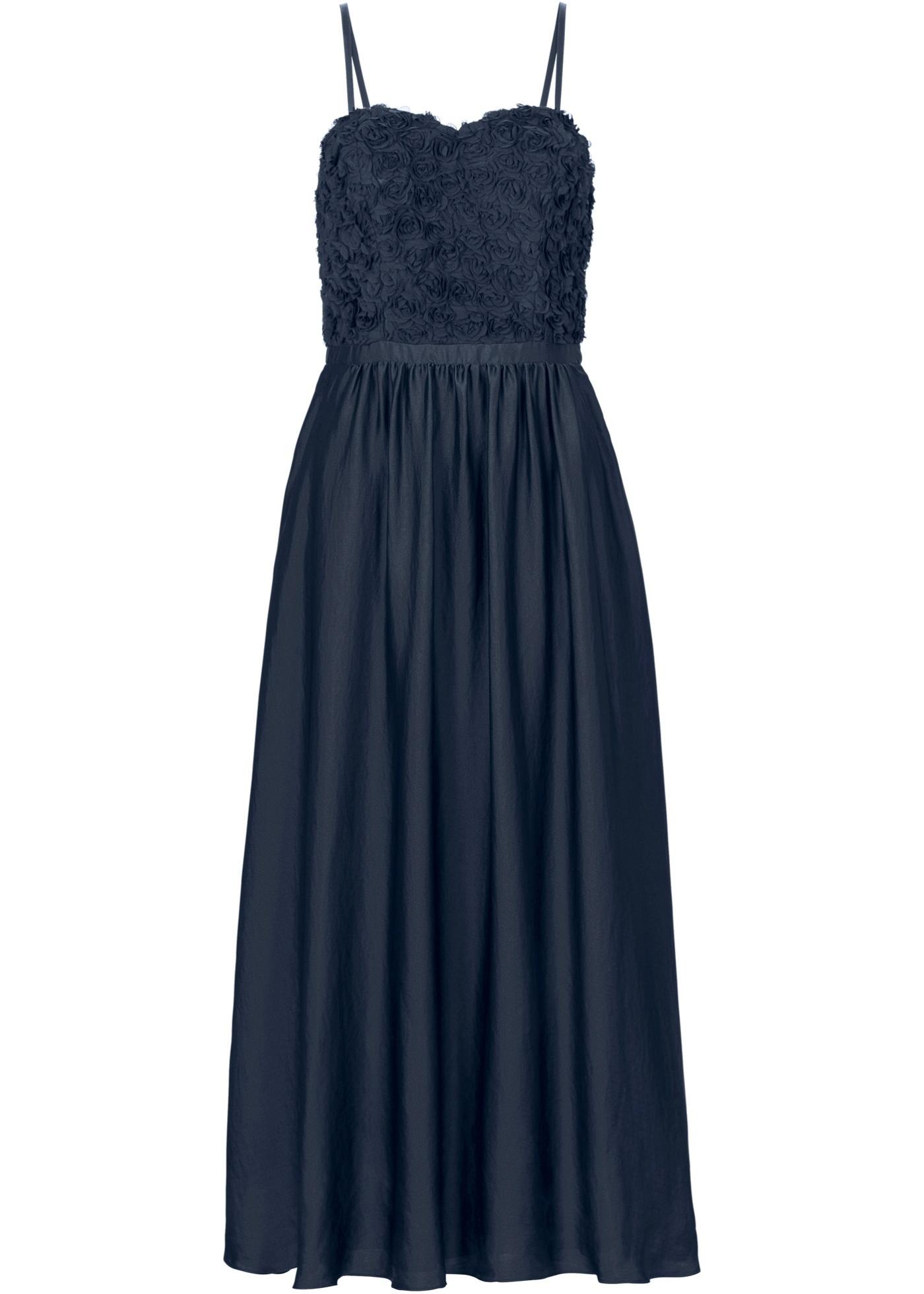 Atemberaubendes Abendkleid Kleid Lang Dunkelblau Blau mit ...