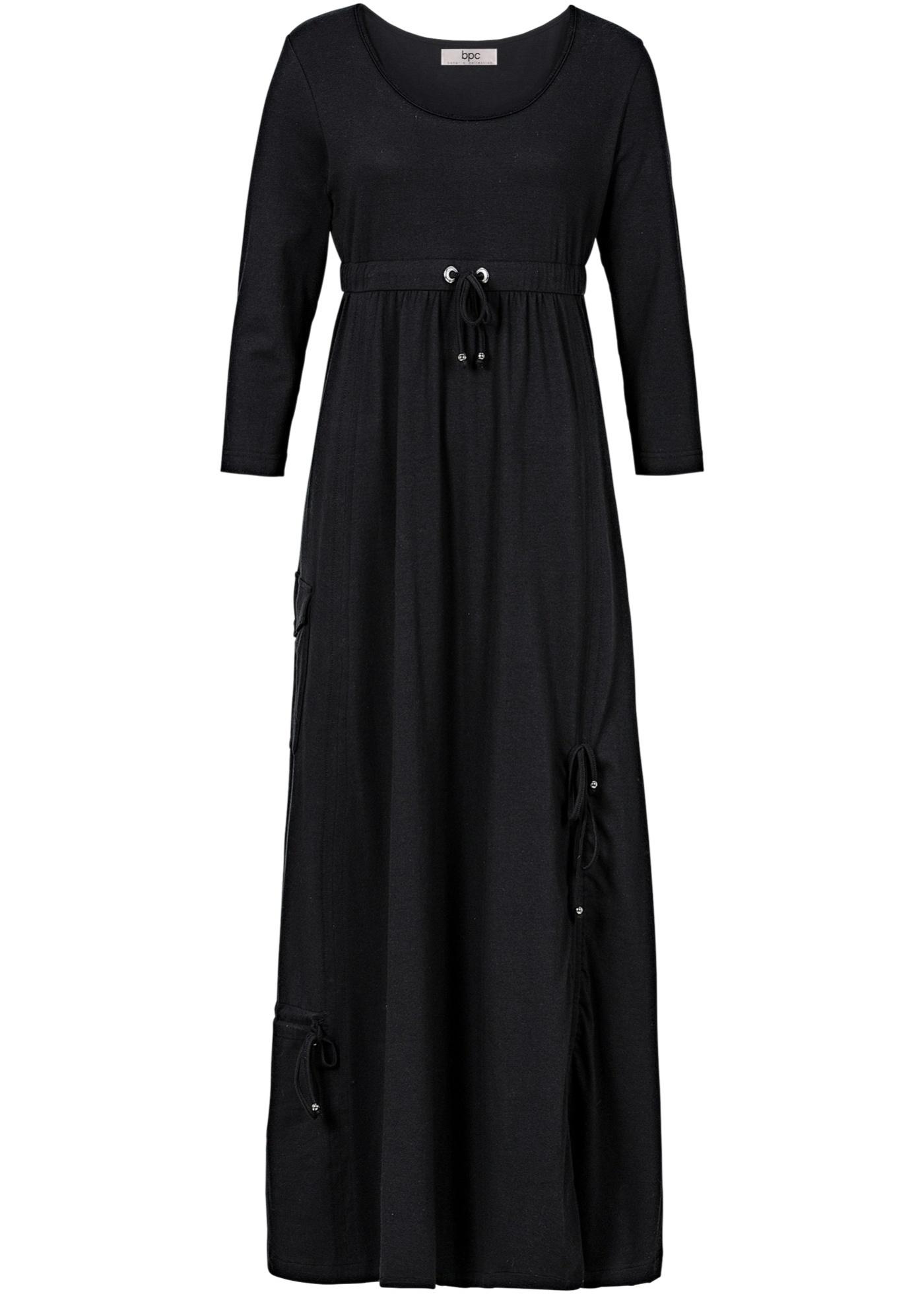 Shirt-Kleid mit 3/4-Ärmeln