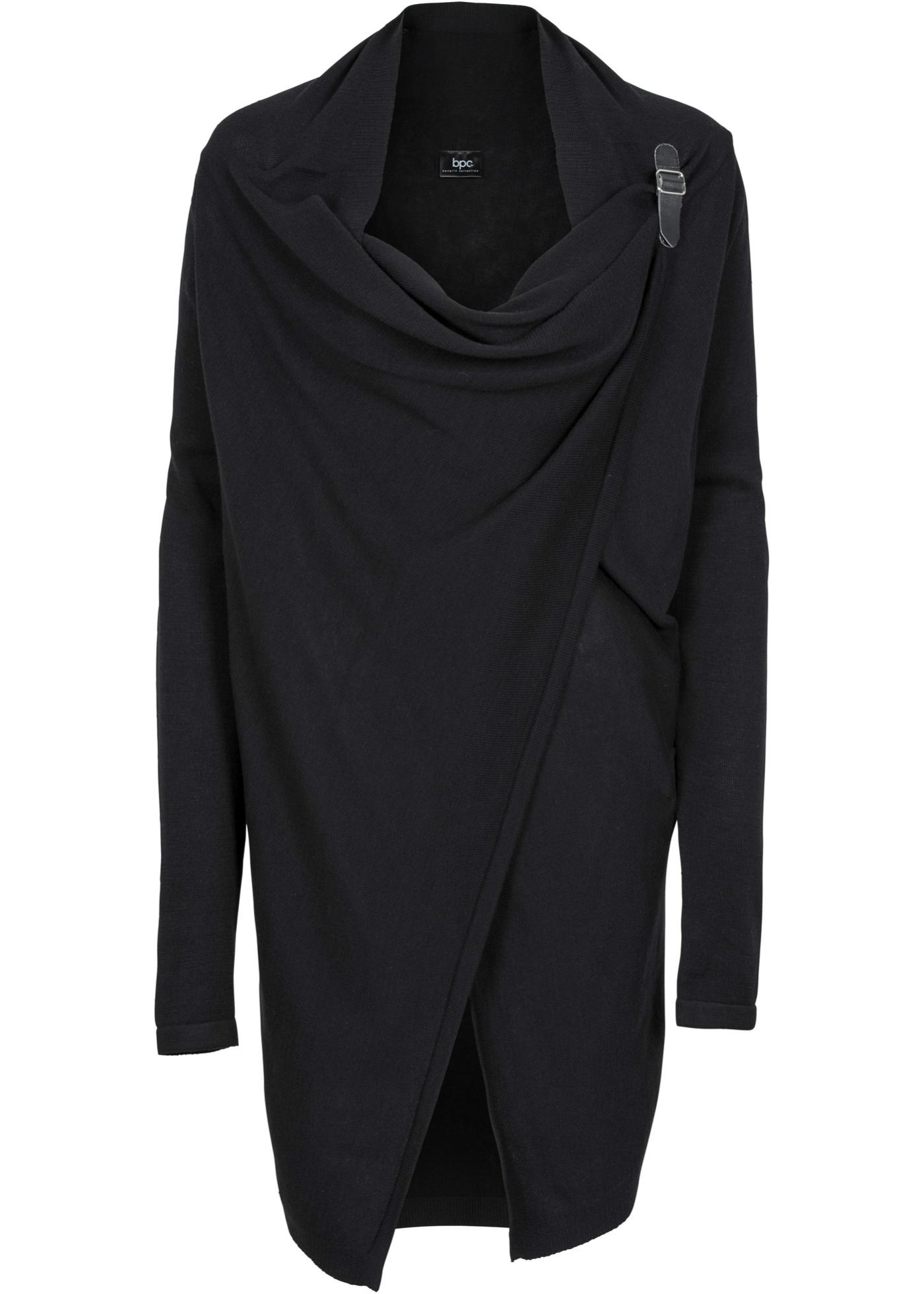 Umstandsponcho / Stillponcho langarm  in schwarz für Damen von bonprix