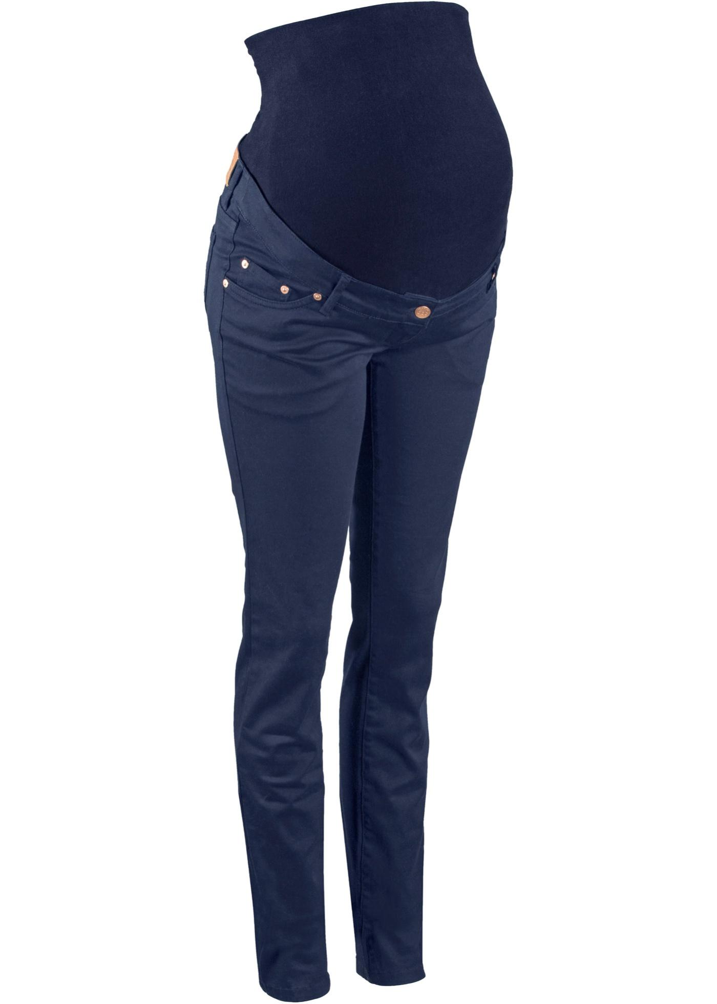 Umstandshose Skinny in blau für Damen von bonprix