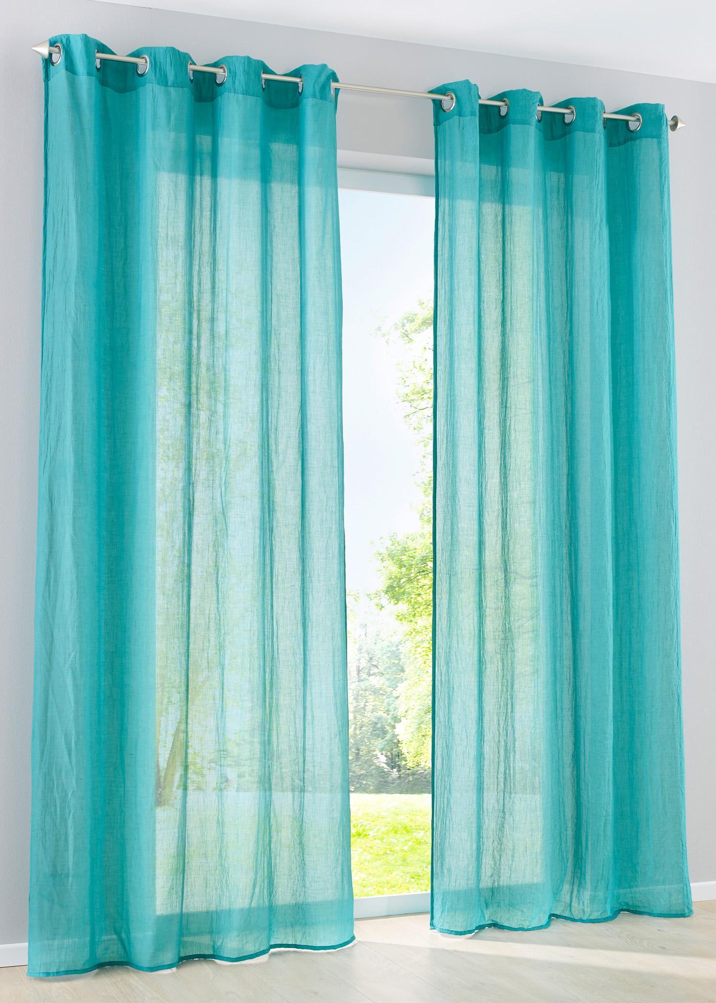 gardine vorhang kyra 1 st ck petrol 245 135 sen art. Black Bedroom Furniture Sets. Home Design Ideas