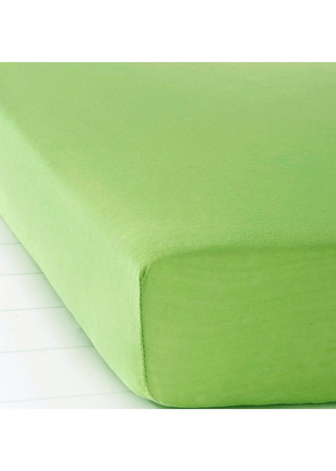 Jersey Spannbettlaken in grün von bonprix