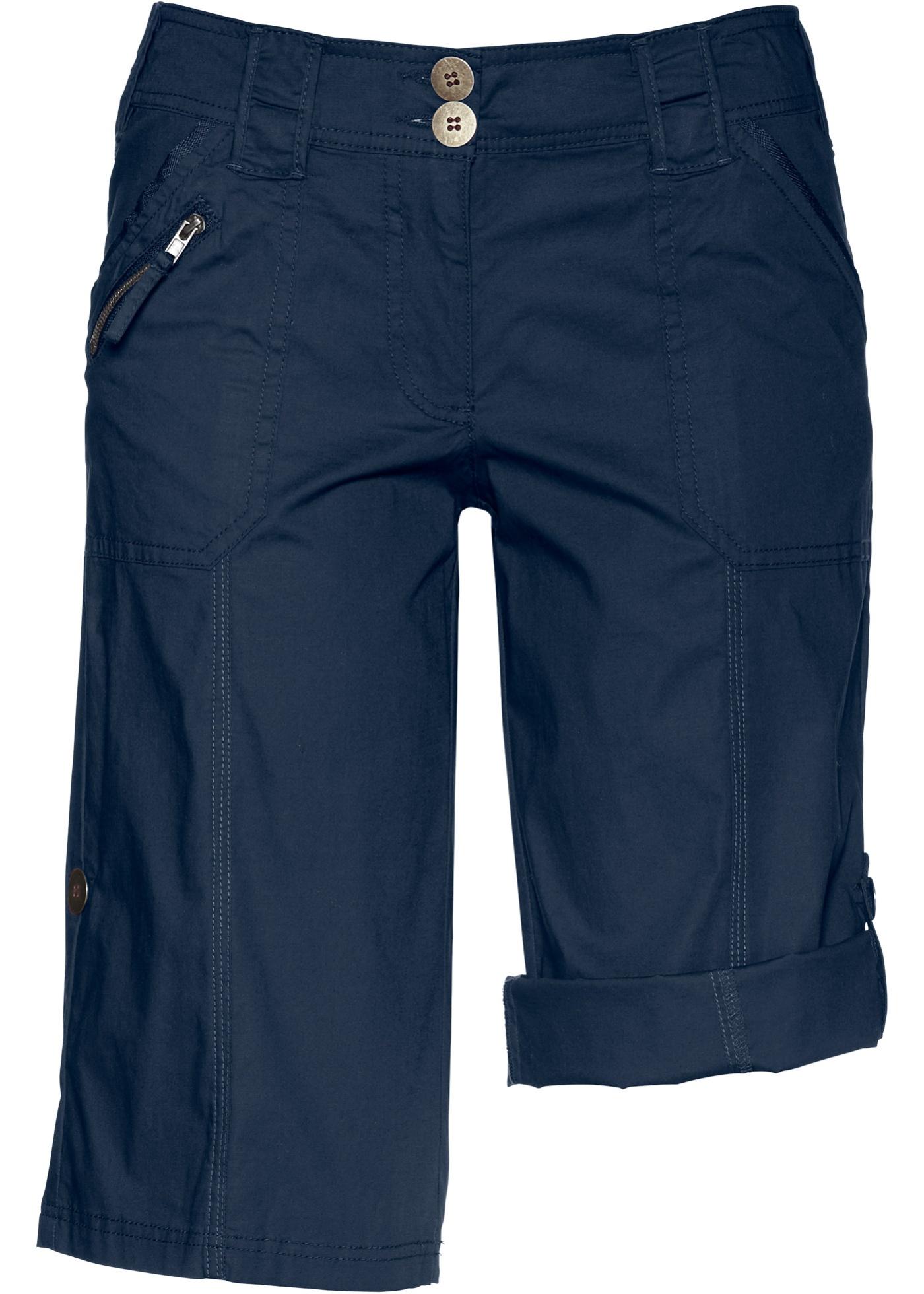 Hosen - Bermuda mit krempelbaren Beinen › bonprix › blau  - Onlineshop Bonprix