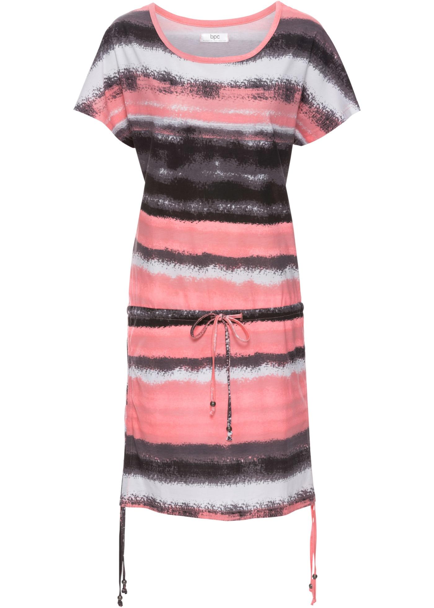 Jerseykleid mit Bindefunktion, halbarm