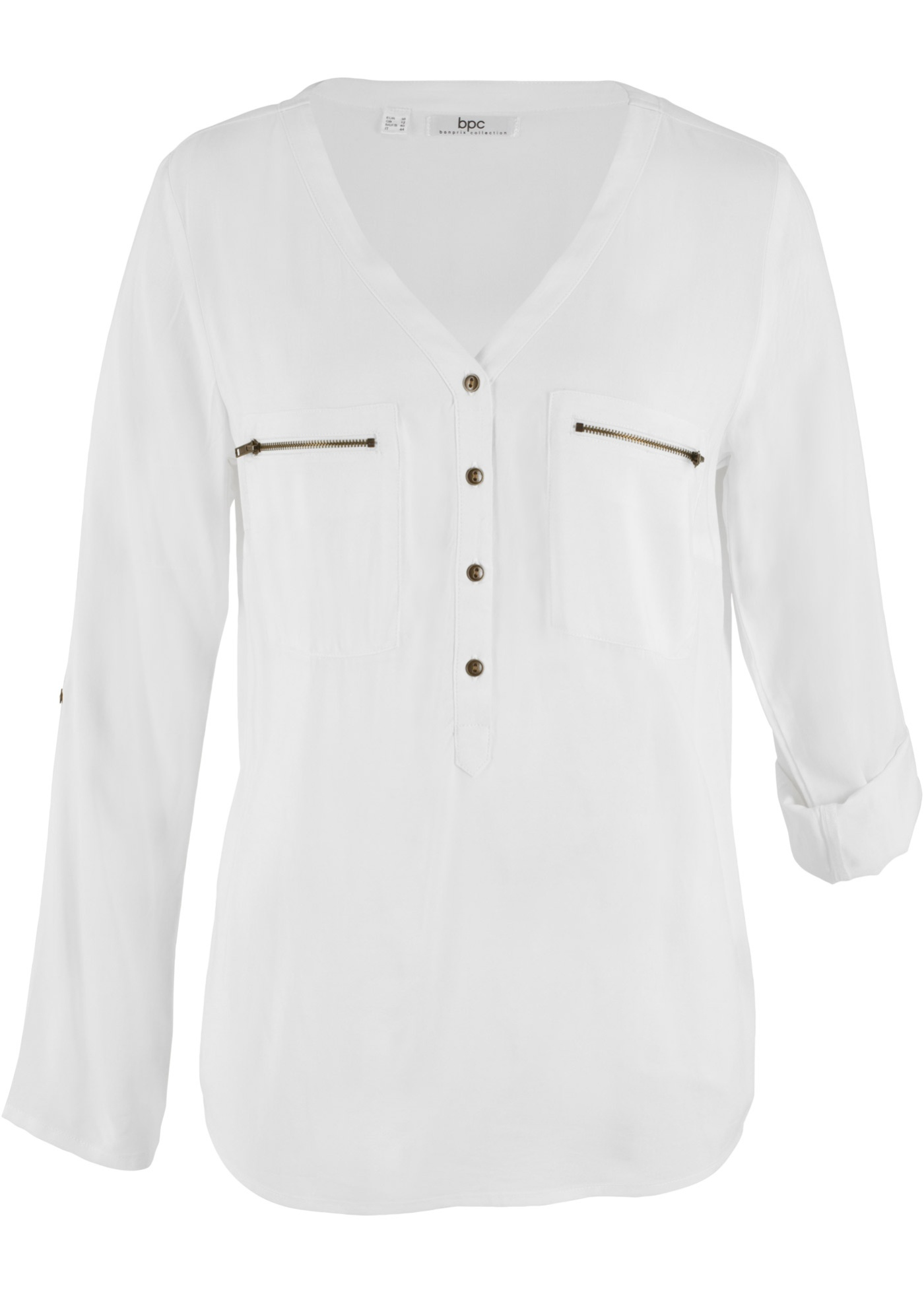 Langärmlige Viskose-Bluse