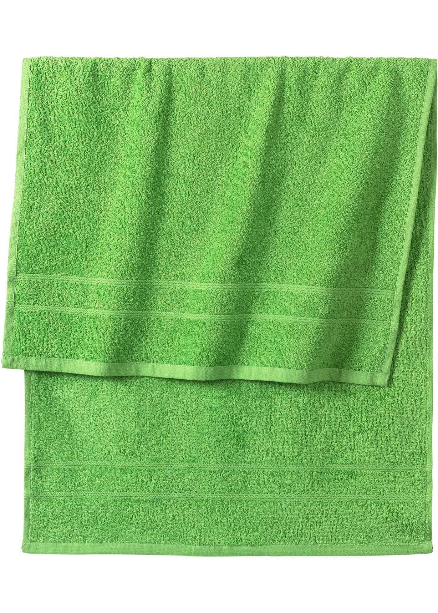 Handtuch in schwerer Qualität in grün von bonprix