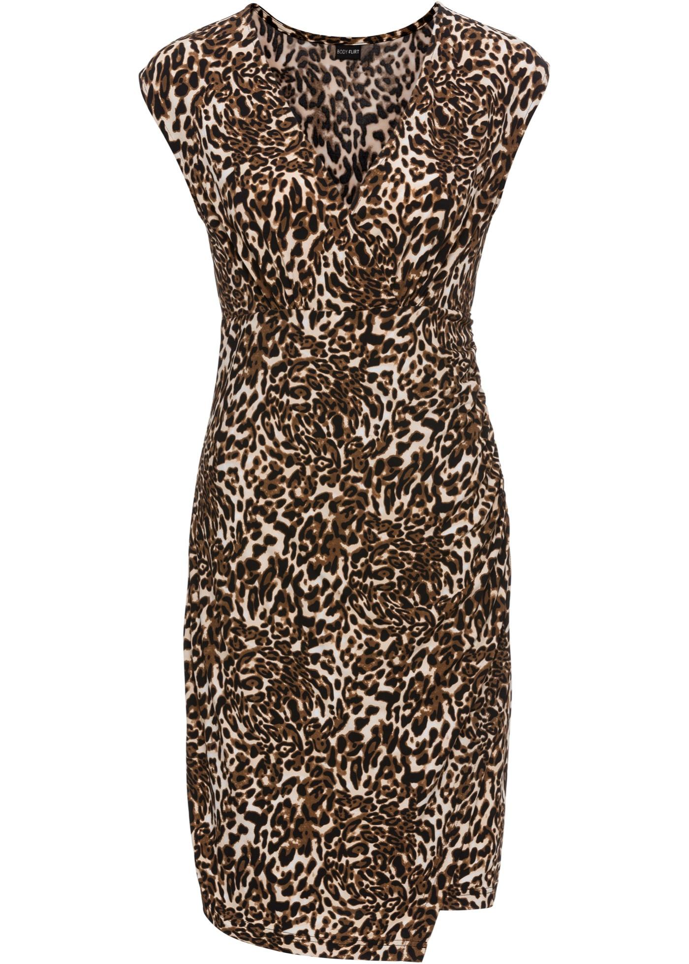Festtagsmode - Jerseykleid › bonprix › beige  - Onlineshop Bonprix