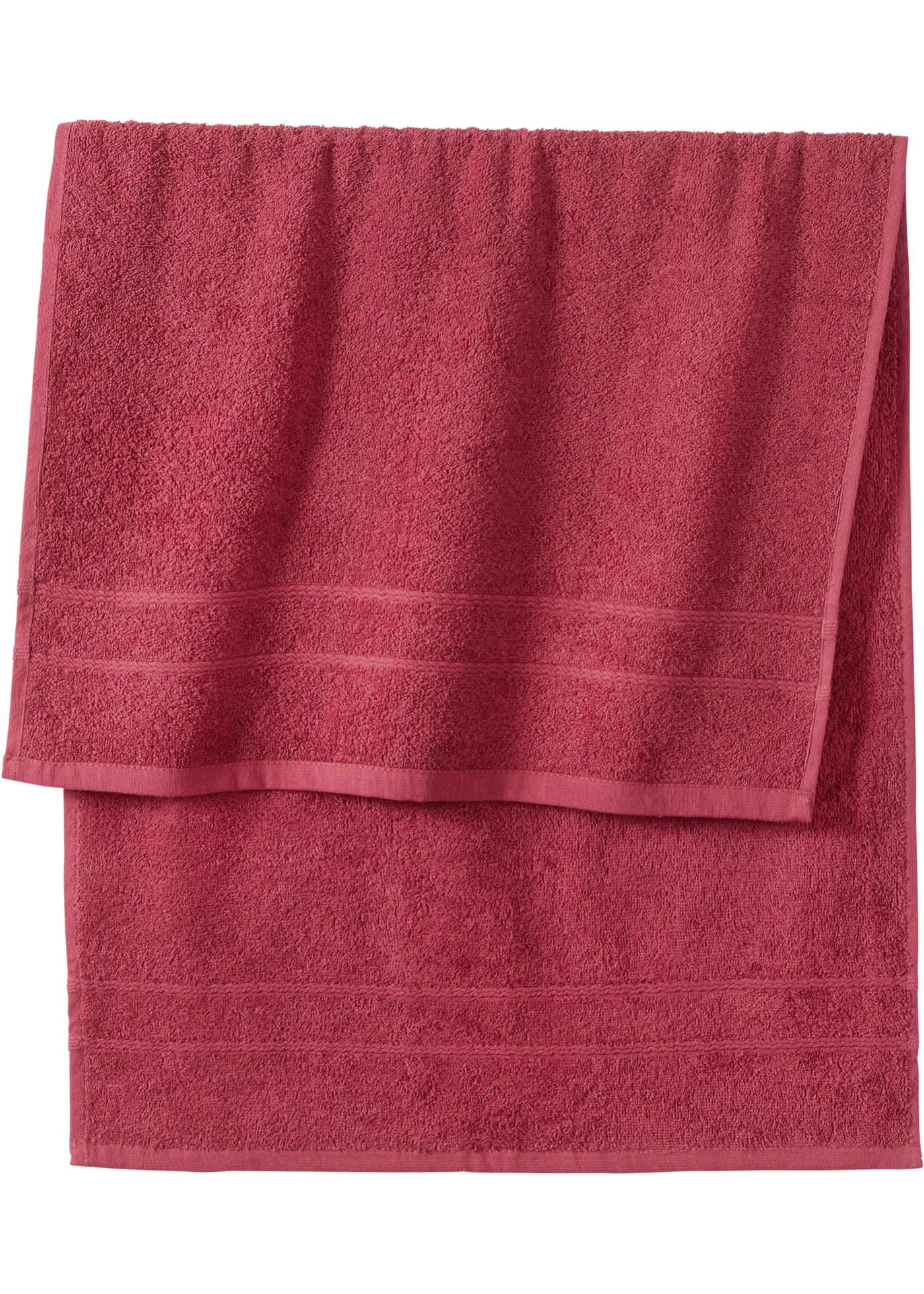 Handtuch in schwerer Qualität in lila von bonprix