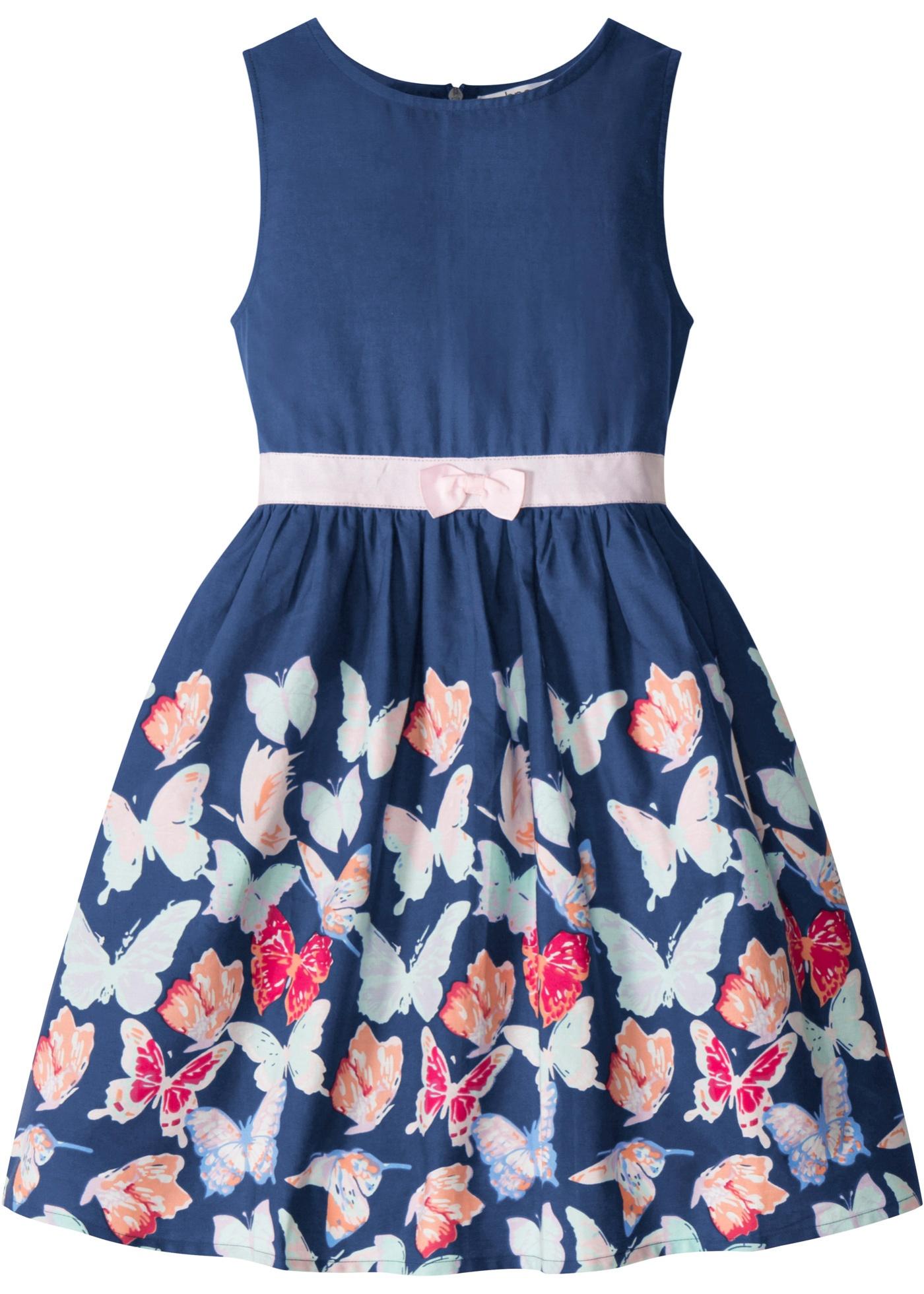 Mädchen Kleid mit Schmetterlingsdruck