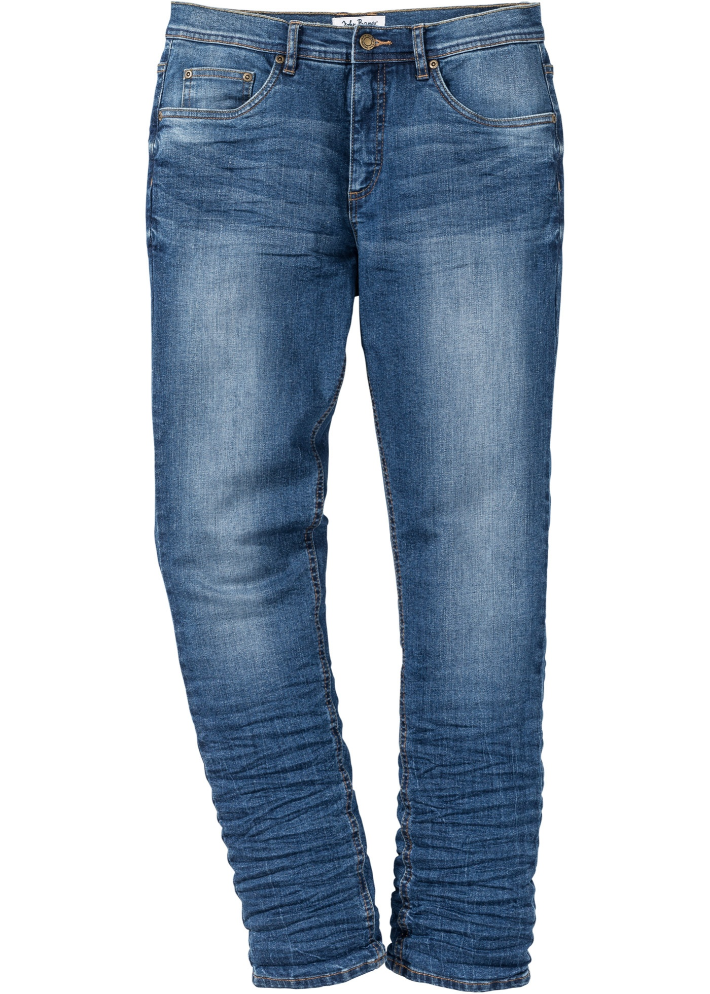 Herren bonprix Slim Fit Stretch-Jeans, Tapered blau | 08940000803961