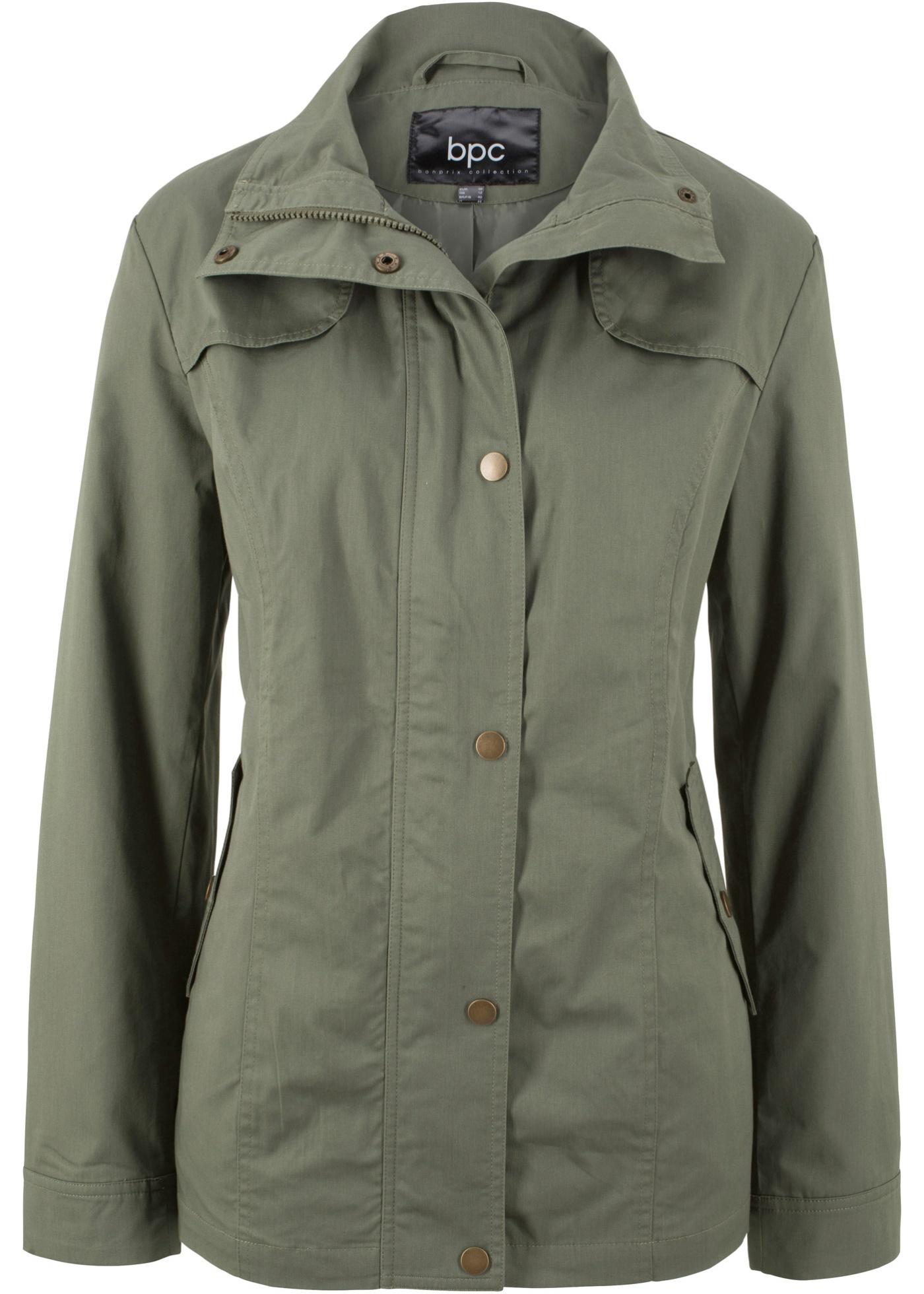 Jacke mit Stehkragen langarm  in grün für Damen von bonprix