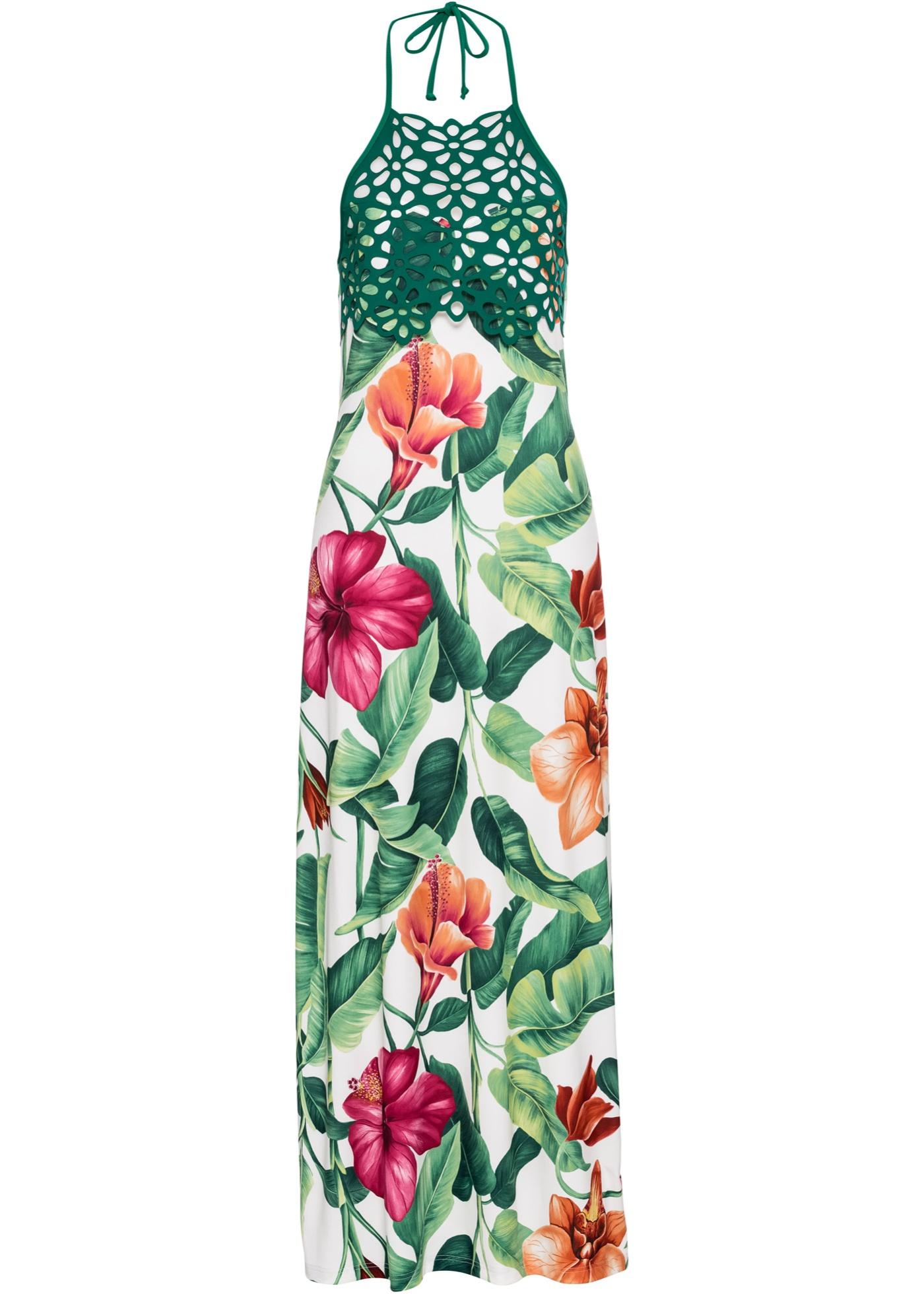 Neckholder-Kleid mit Blumenprint