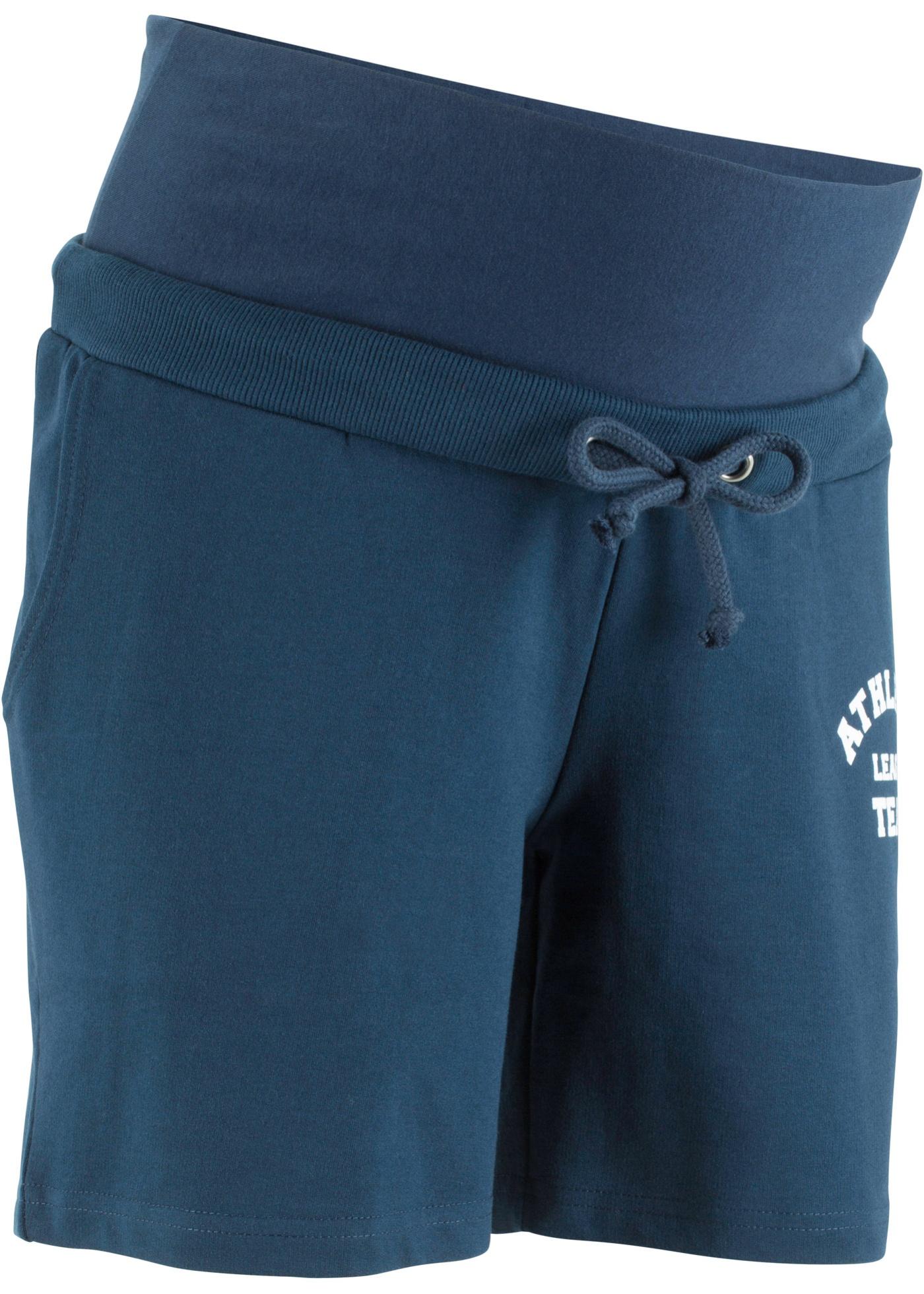 Sweat-Umstandsshorts in blau für Damen von bonprix