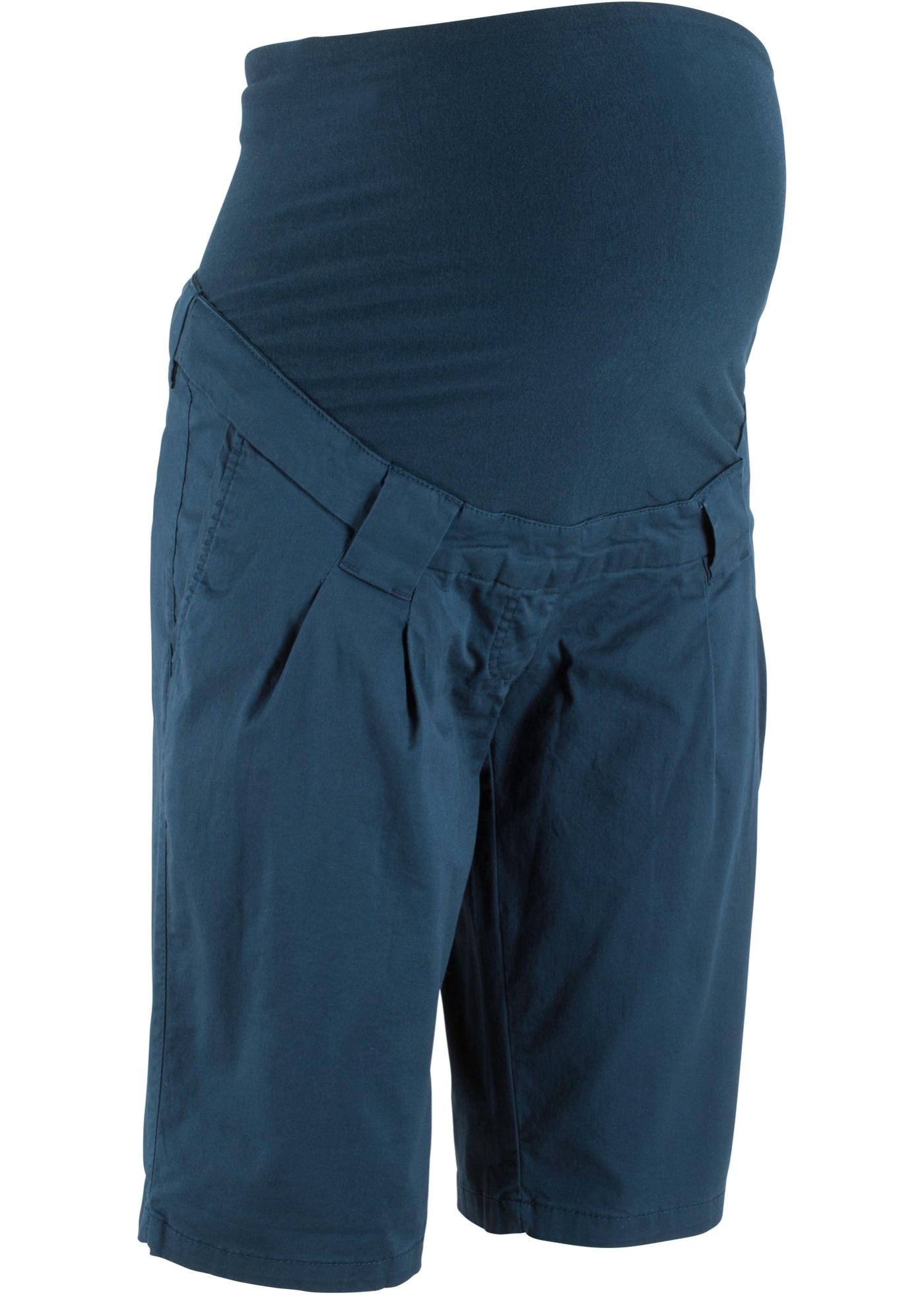Umstandsshorts mit Bundfalten in blau für Damen von bonprix