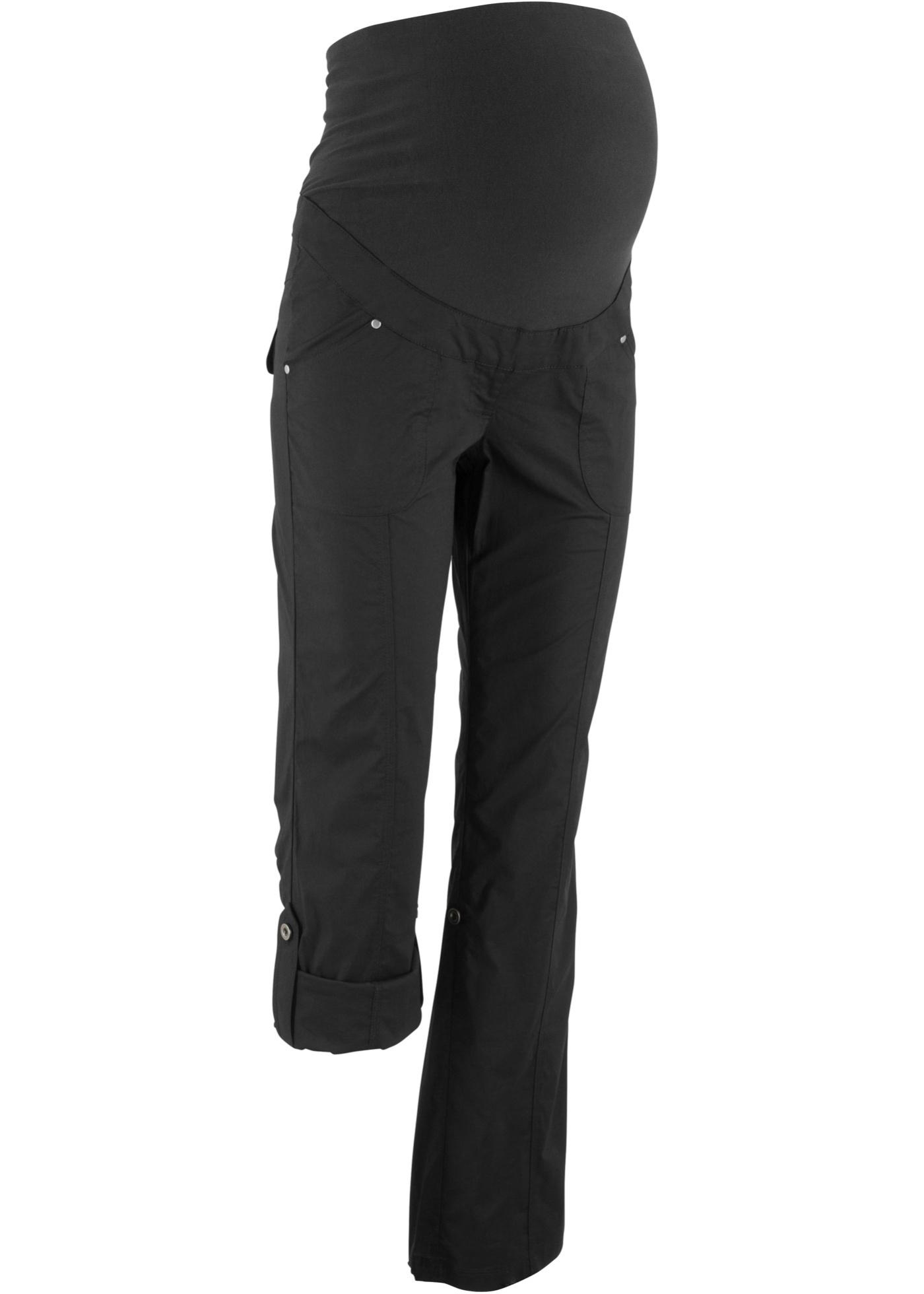 Umstandshose, gerades Bein mit Aufschlag in schwarz für Damen von bonprix