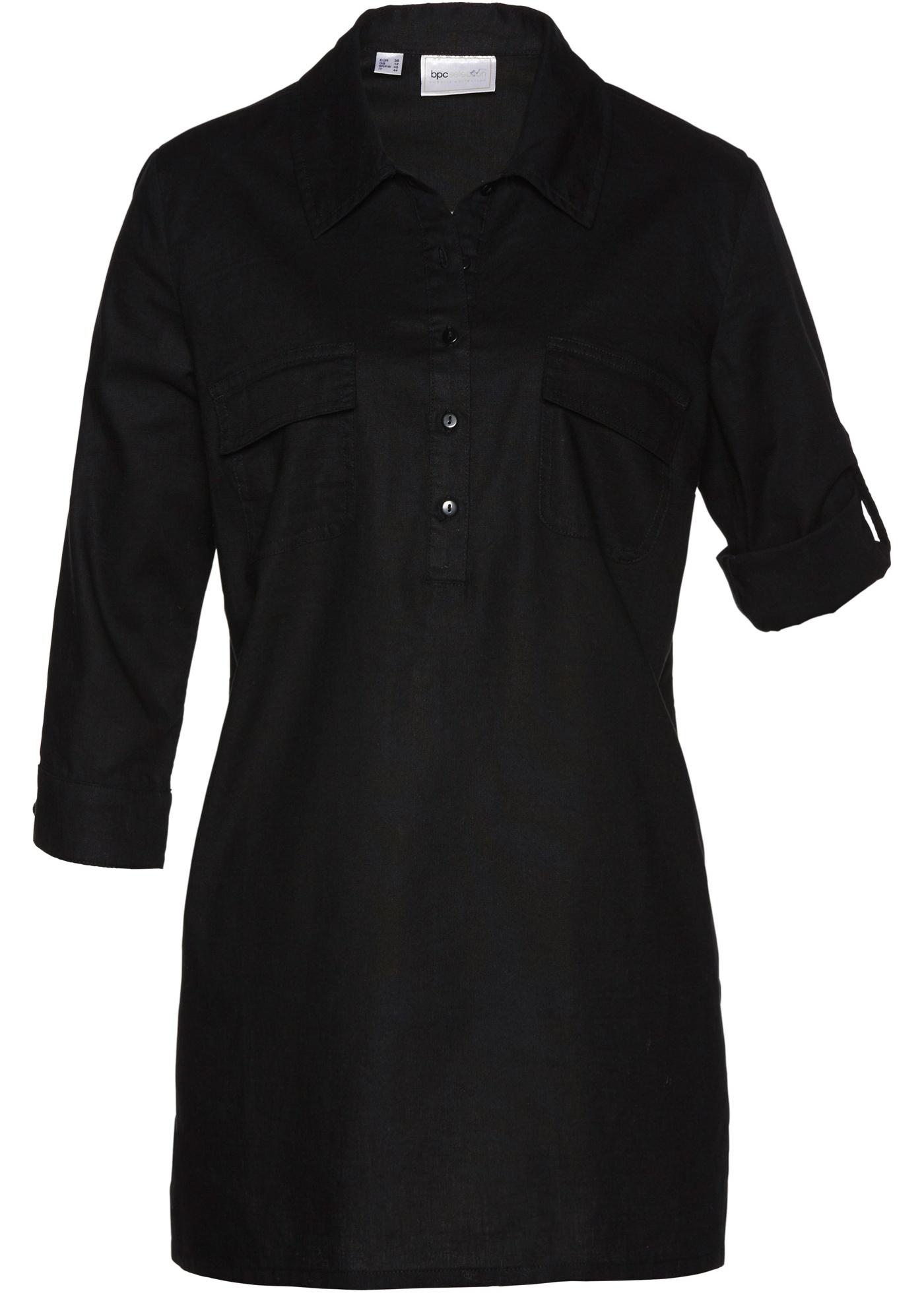 Bluse halber Arm  in schwarz für Damen von bonprix