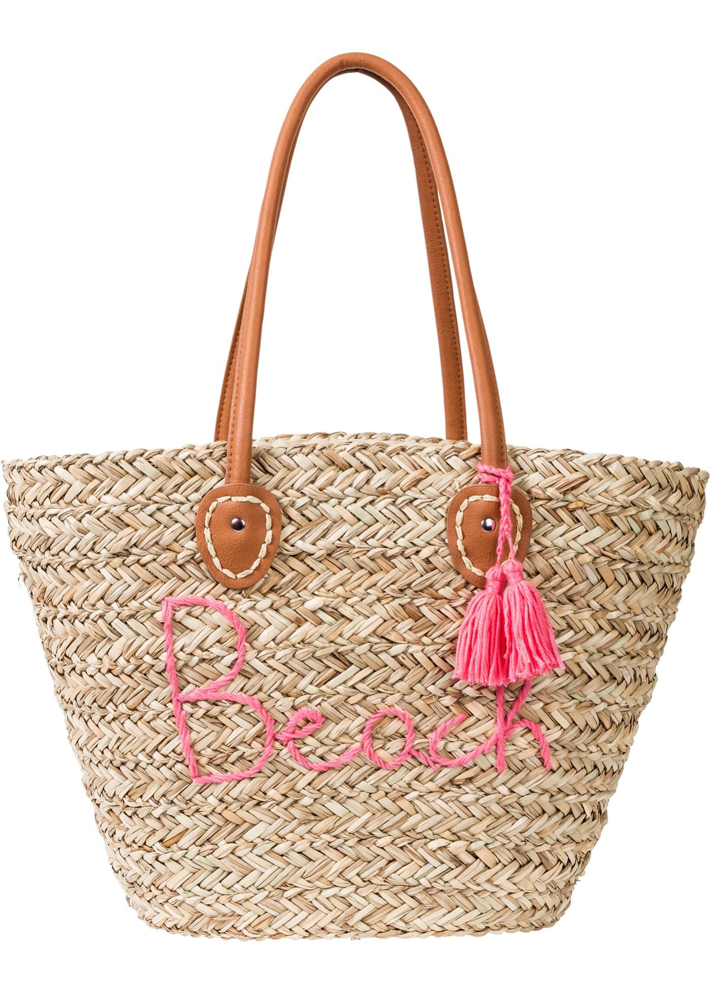 Damen bonprix Strandtasche beige   08401857500019