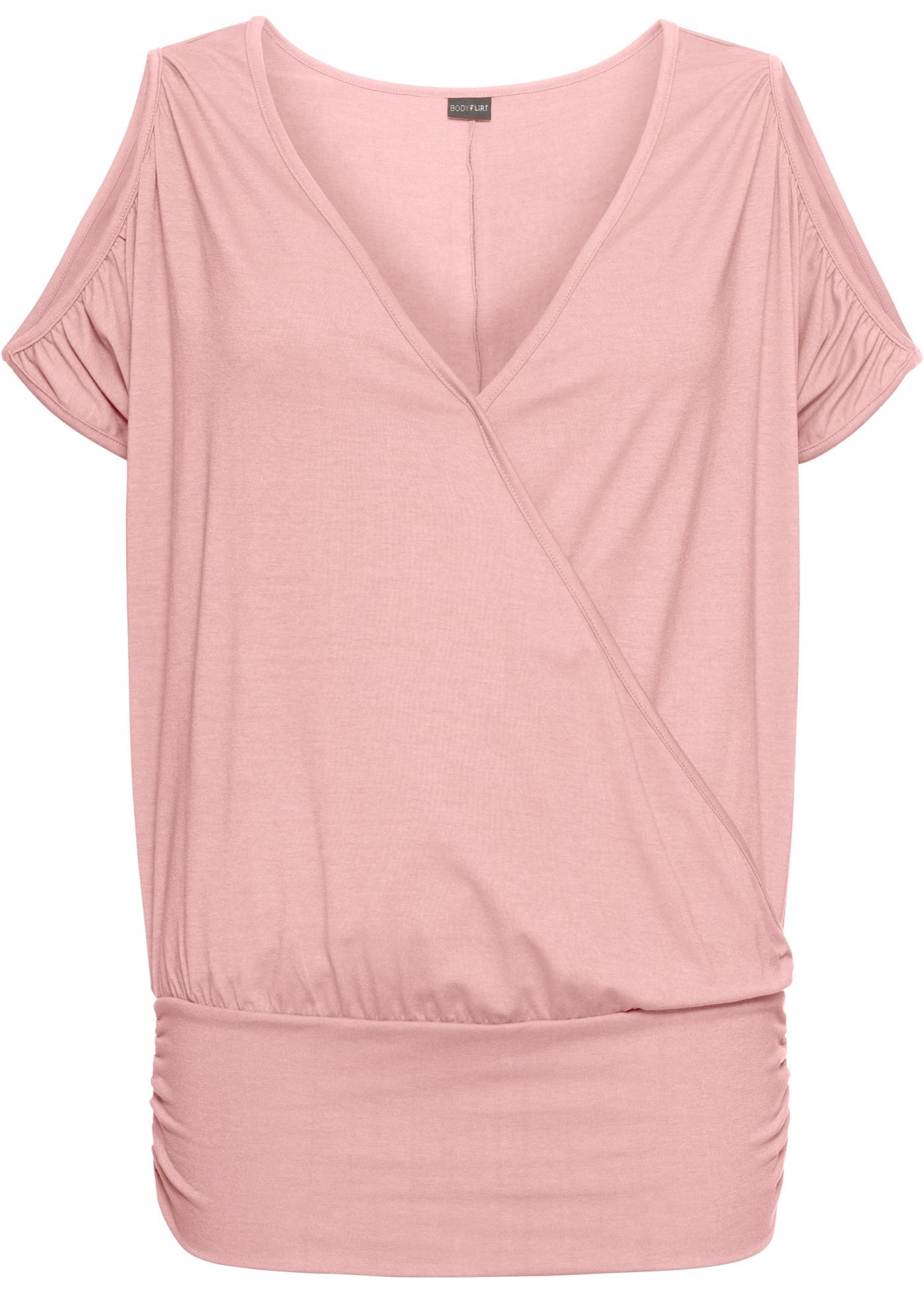 Fledermaus-Shirt kurzer Arm  in rosa für Damen von bonprix